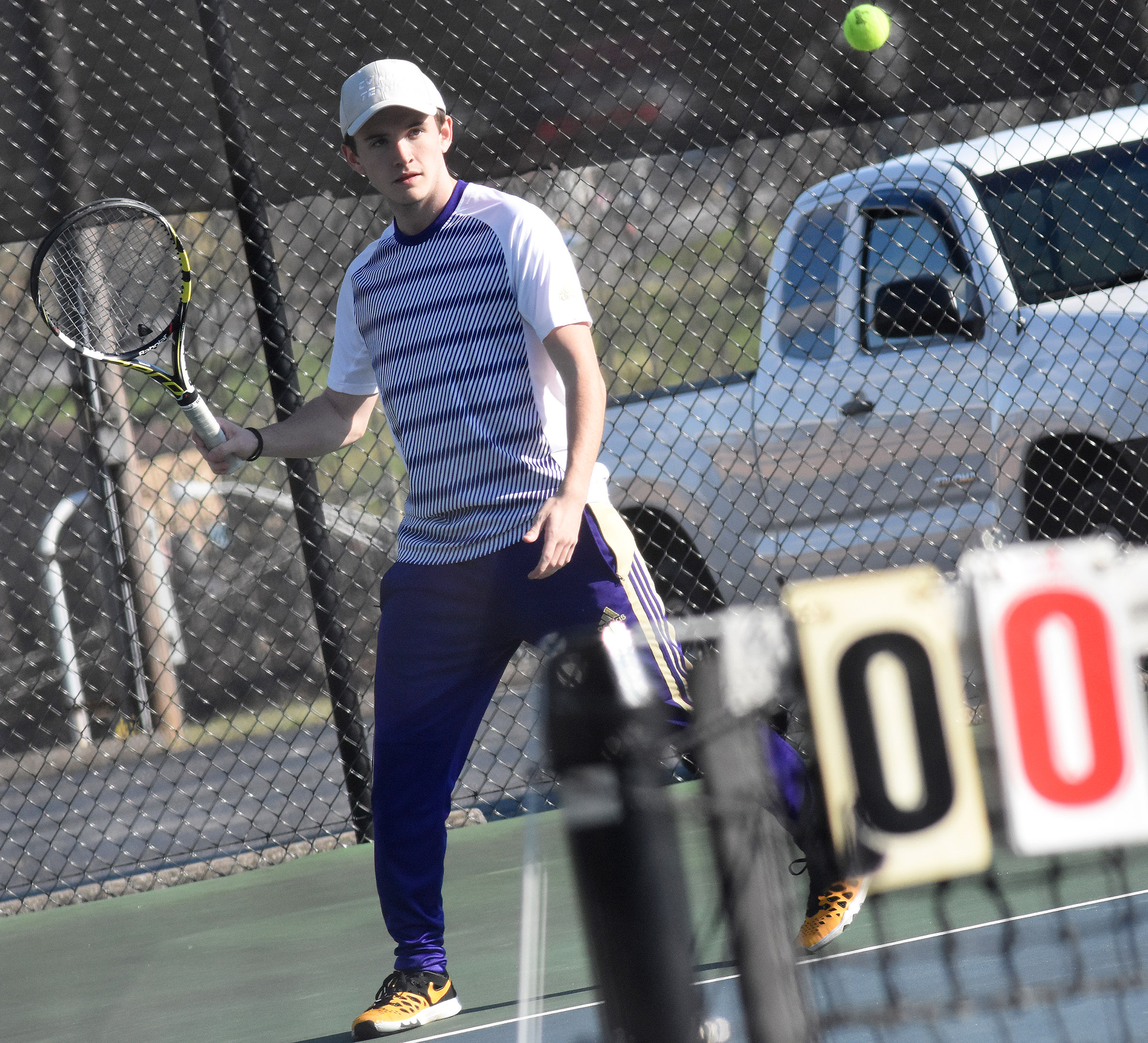 CHS senior Jackson Hunt hits the ball.