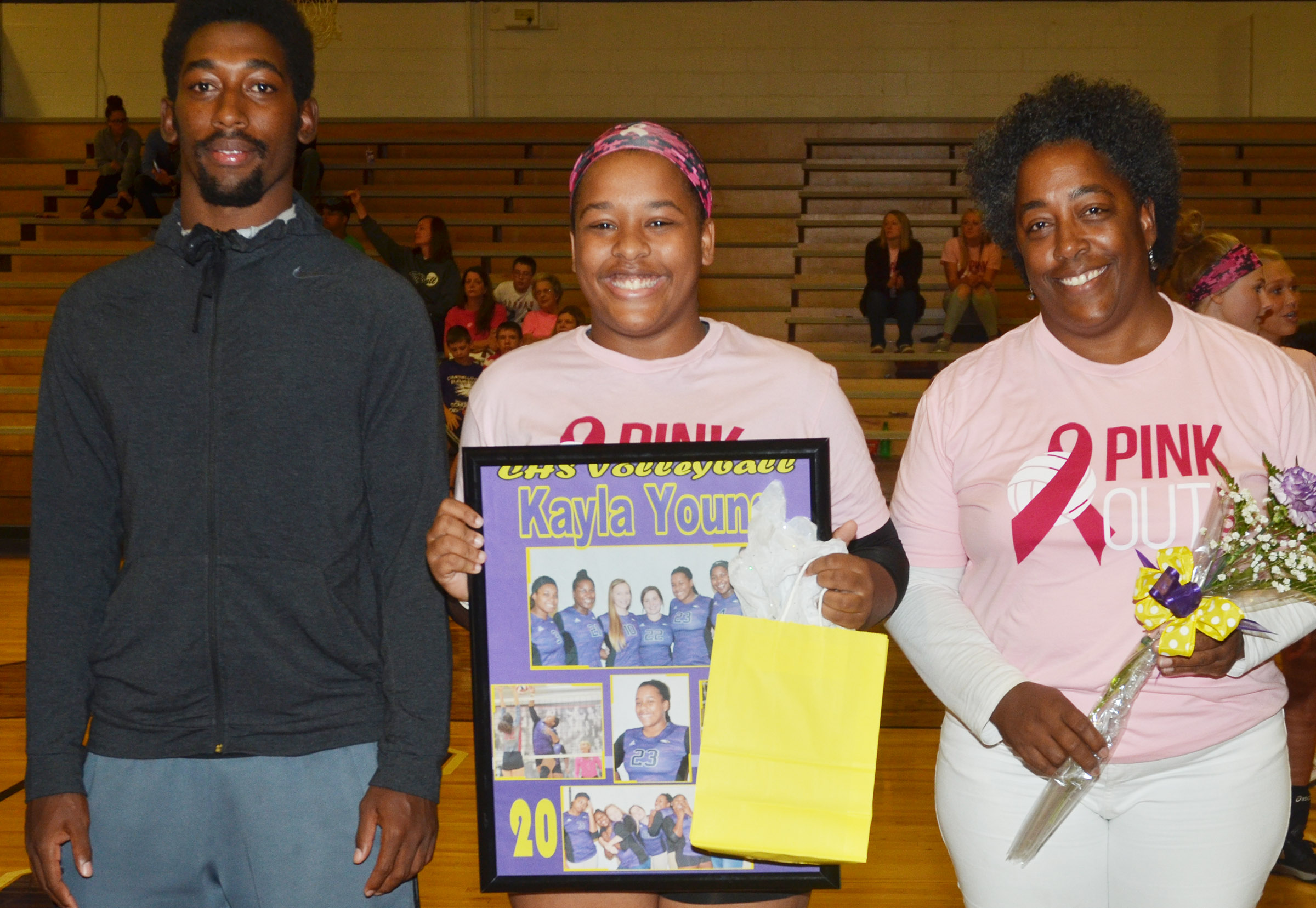 CHS senior volleyball player Kayla Young is honored.