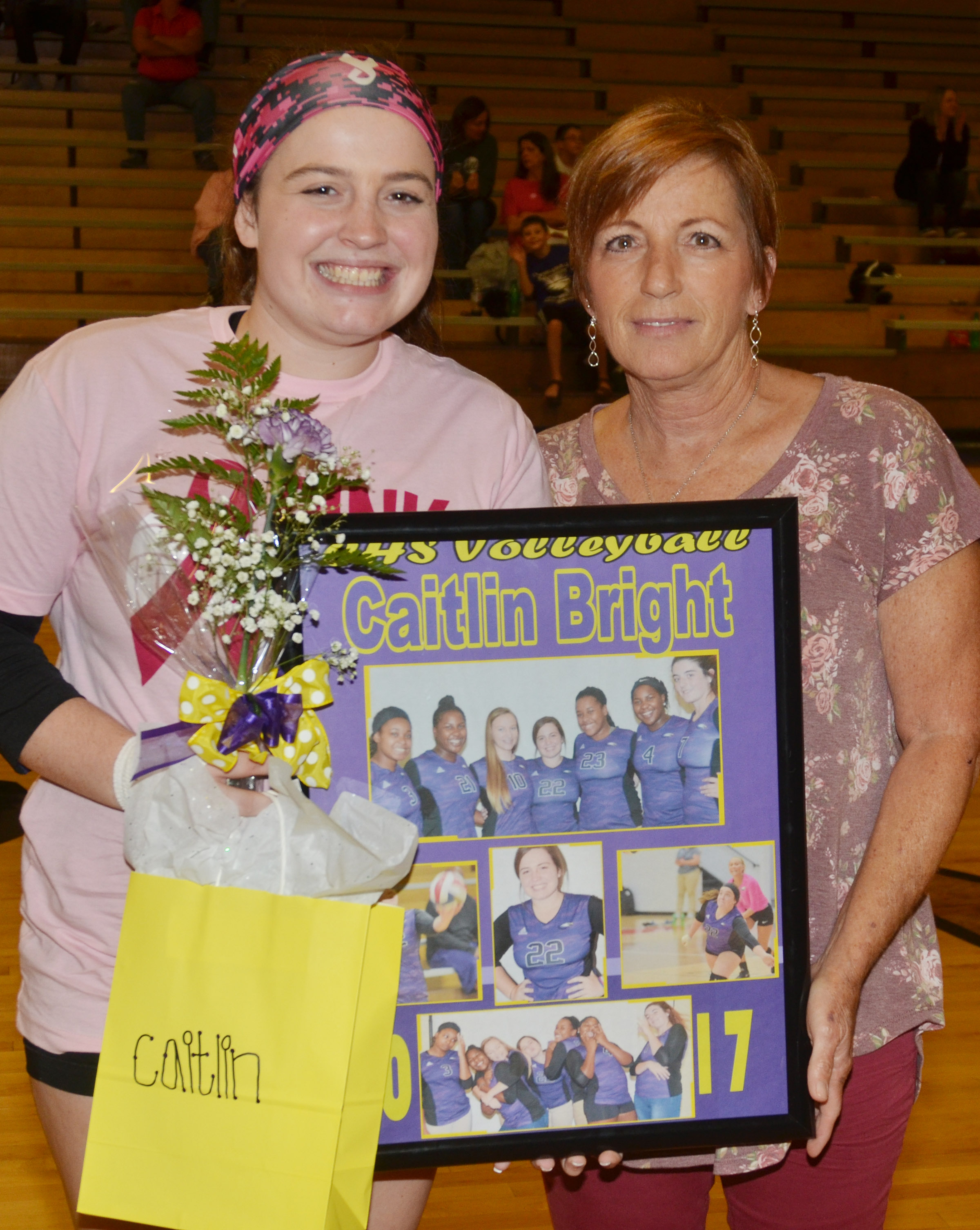 CHS senior volleyball player Caitlin Bright is honored.