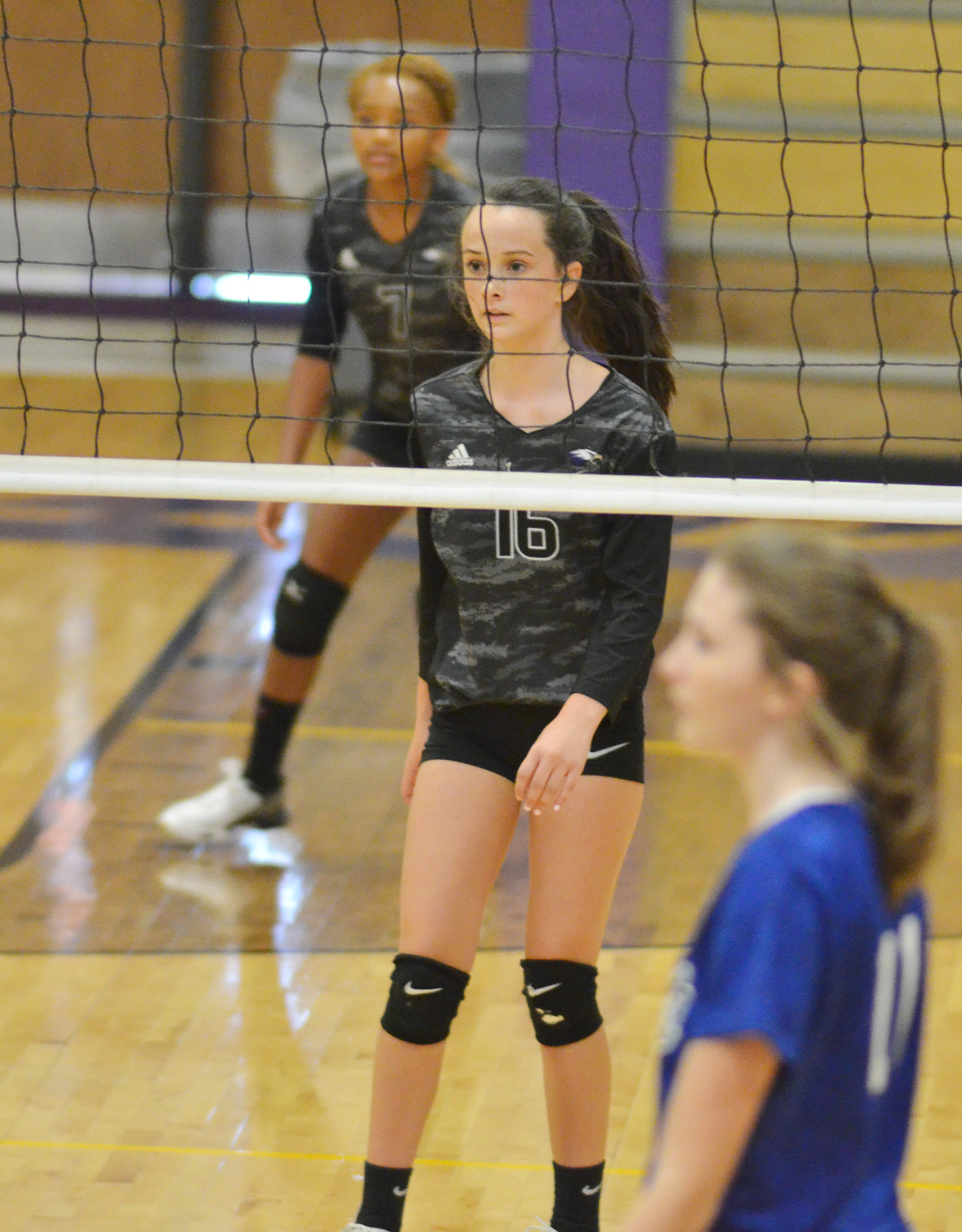 CHS freshman Sarah Adkins gets set for the play.