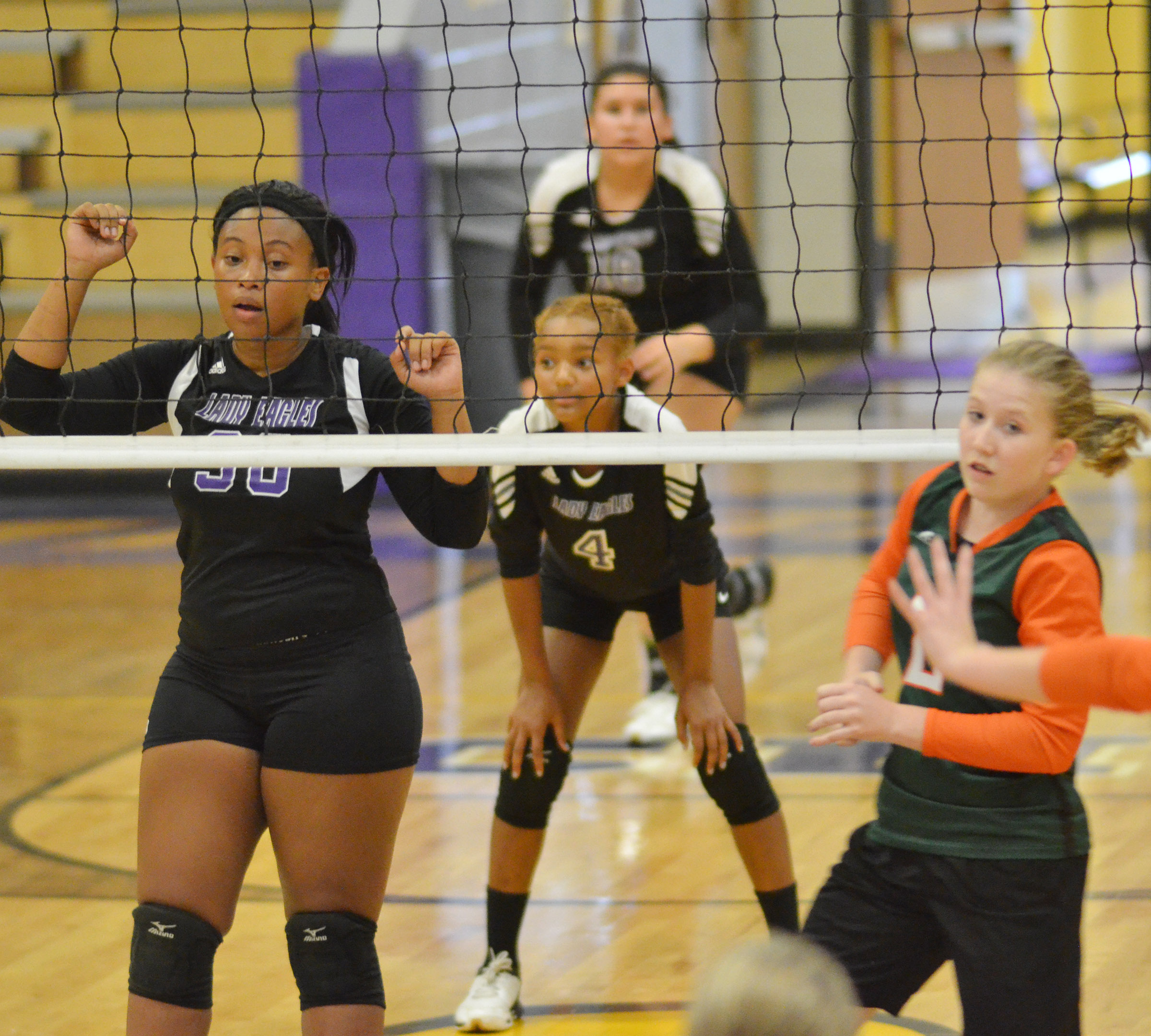 CHS sophomore Ketayah Taylor watches the ball.