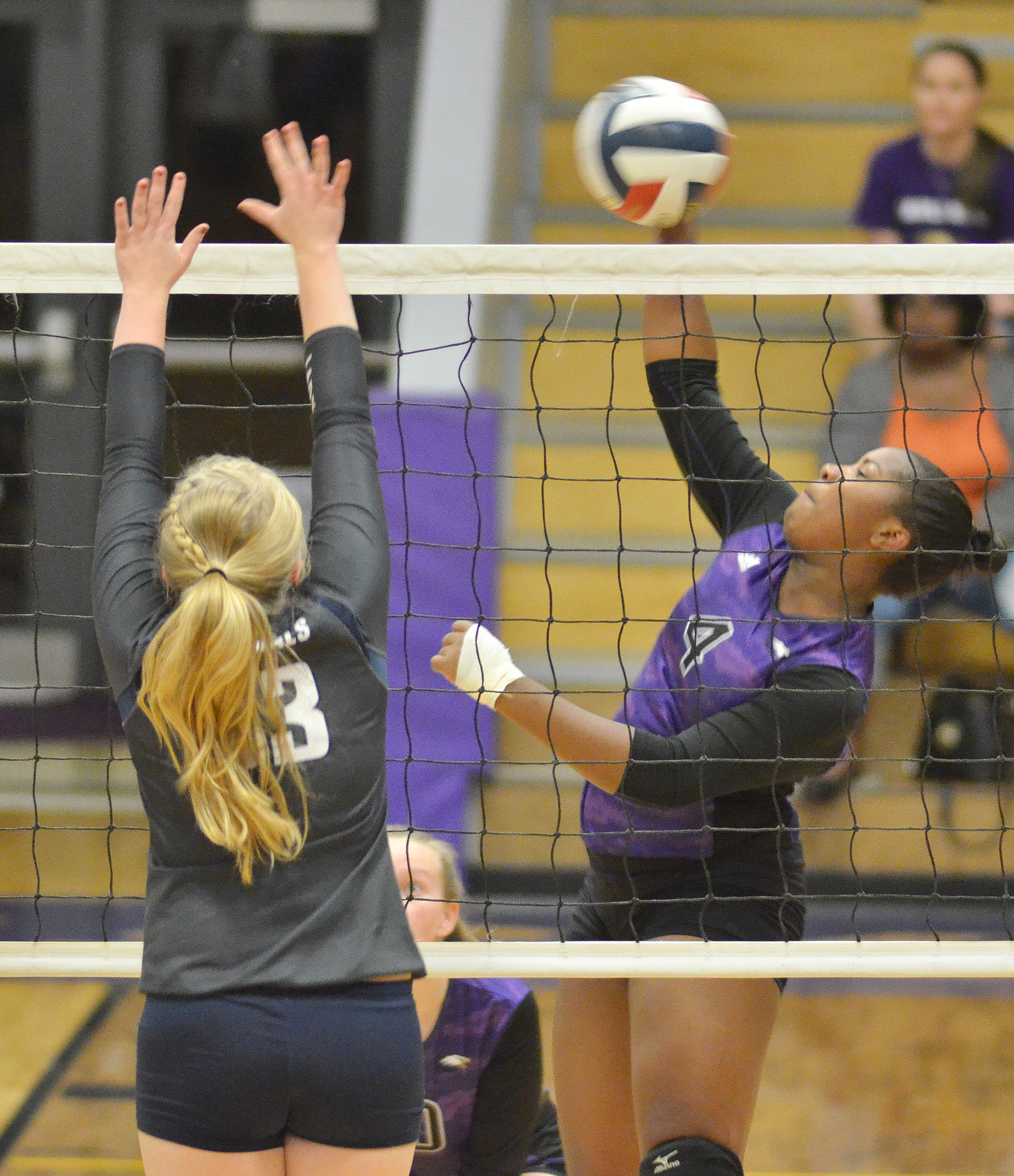 CHS senior Nena Barnett hits the ball over the net.
