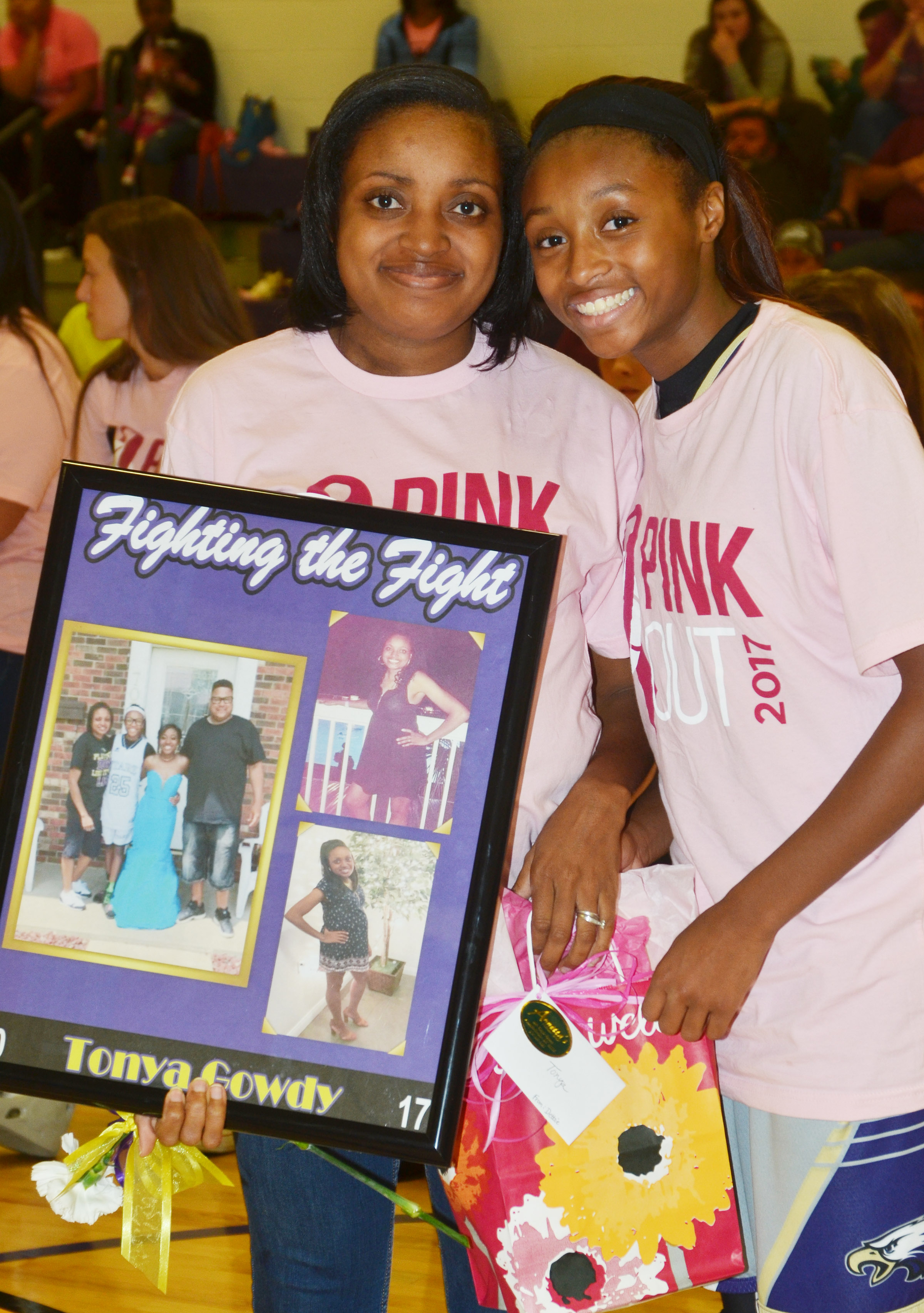 CMS girls' basketball eighth-grader Bri Gowdy honors her mother, Tonya.