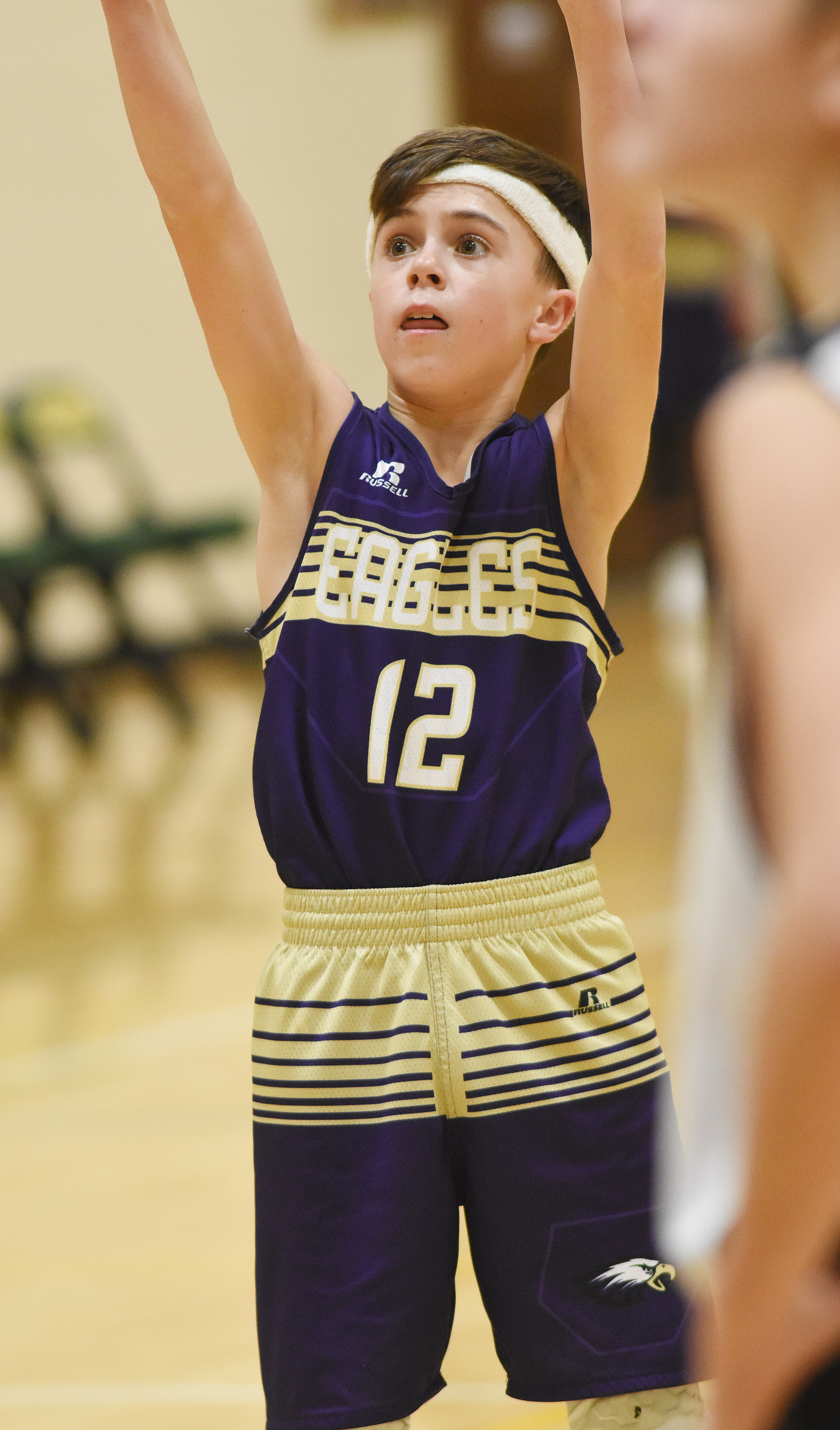 CMS seventh-grader Chase Hord shoots.