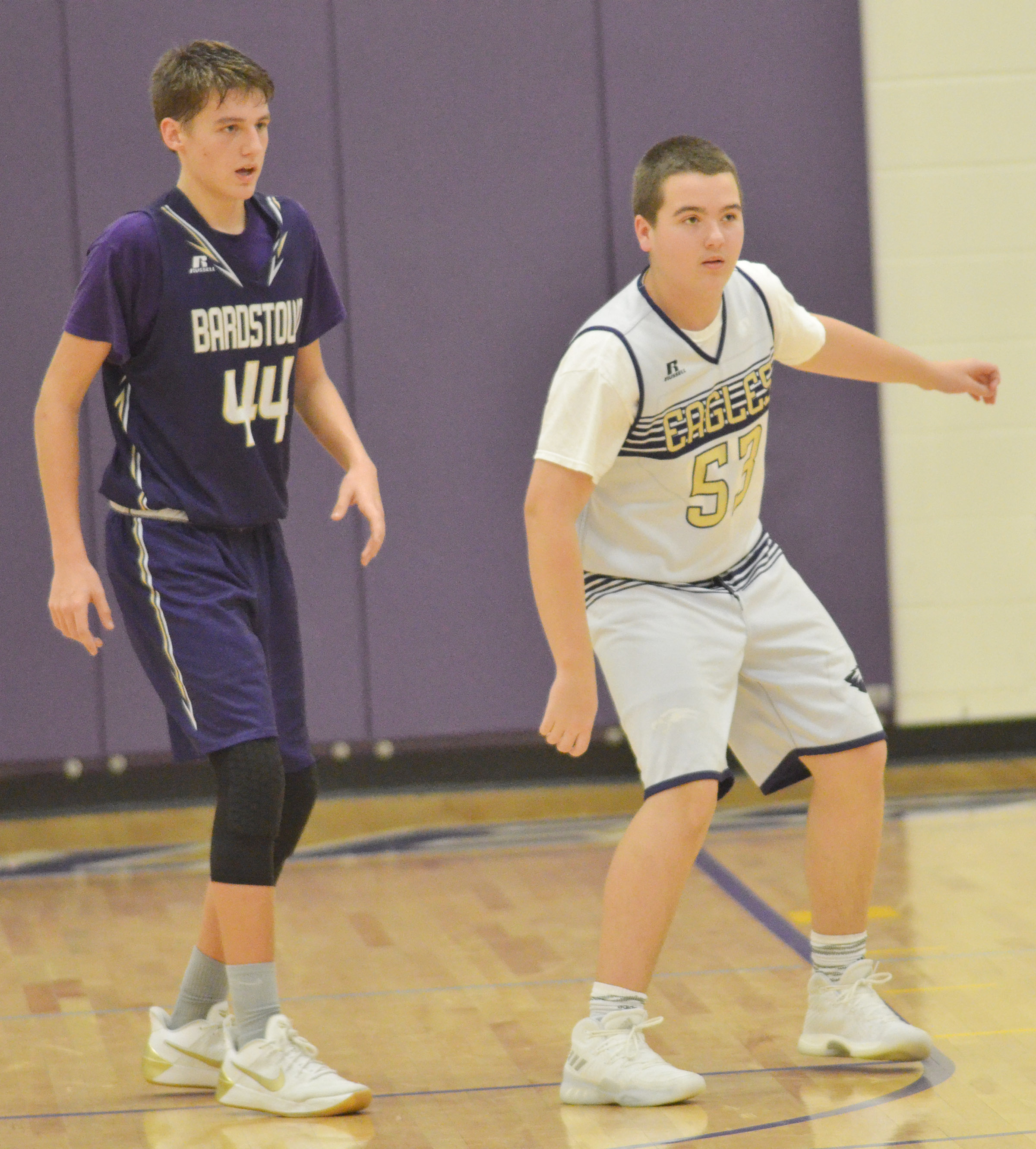 CMS eighth-grader Jack Sabo plays defense.