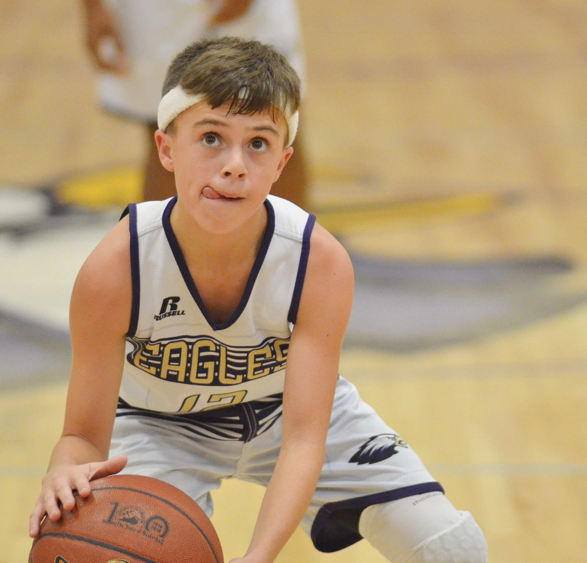 CMS seventh-grader Chase Hord shoots the ball.