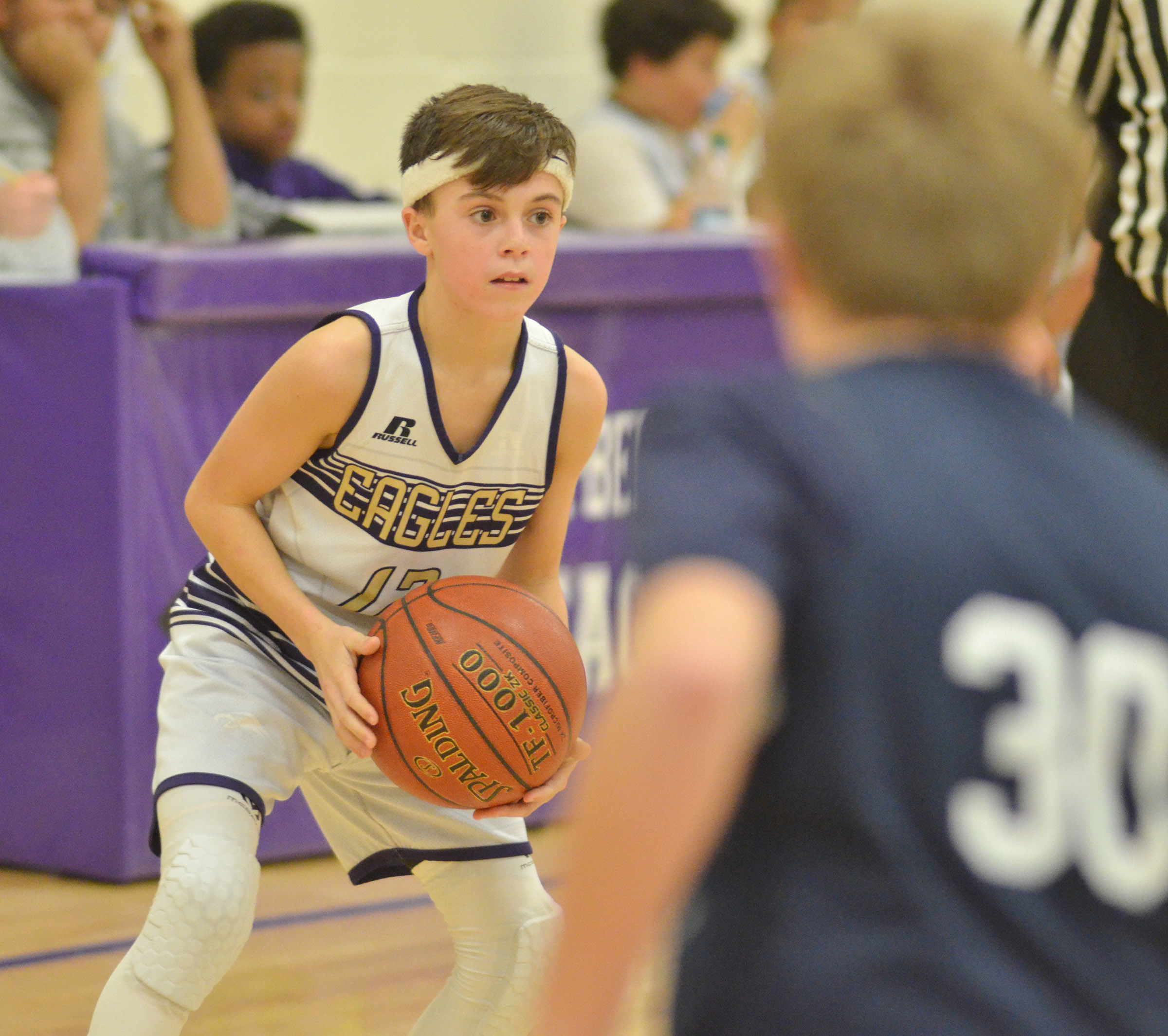CMS seventh-grader Chase Hord passes.