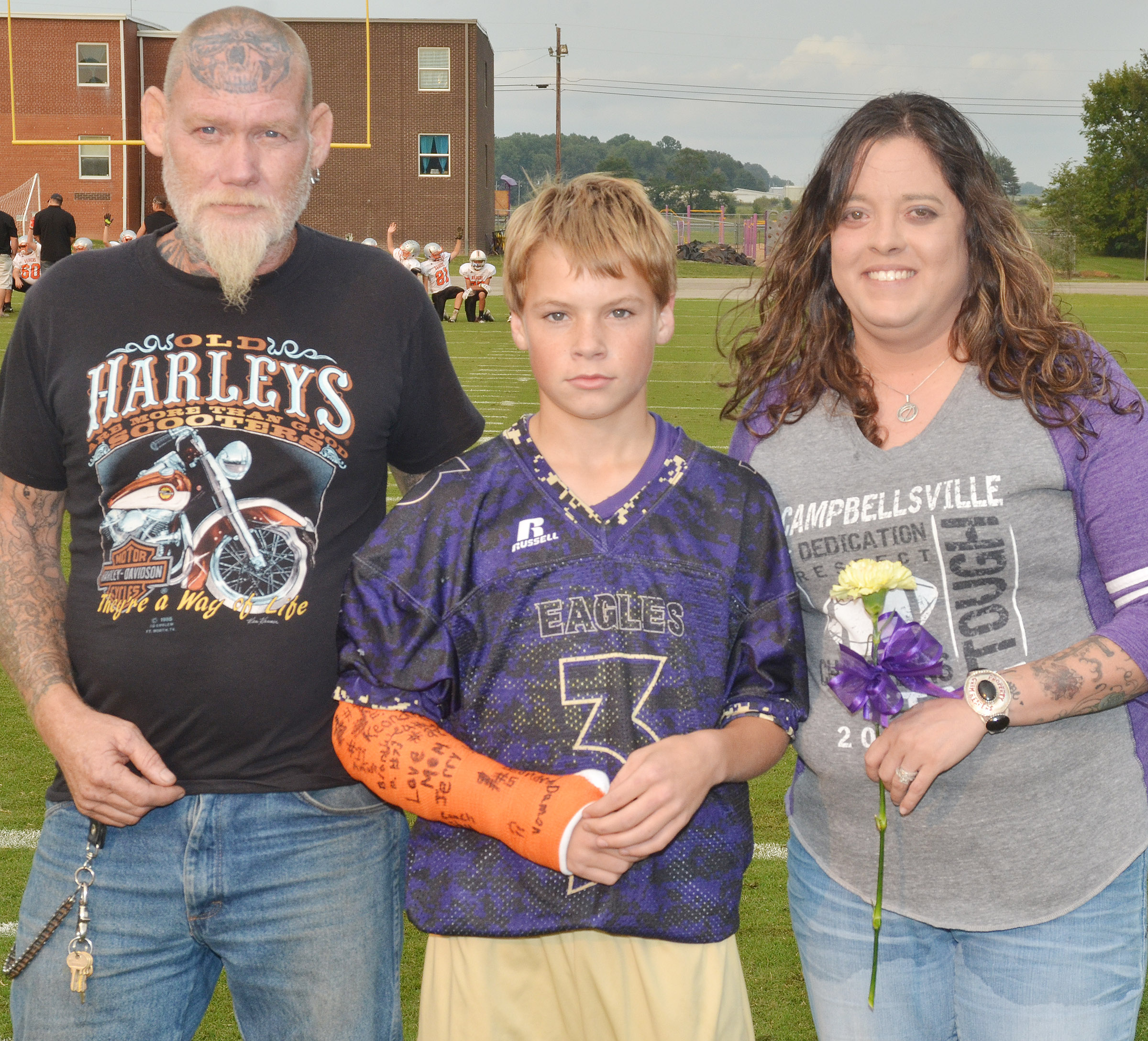 CMS eighth-grader Tuff Harper is honored.