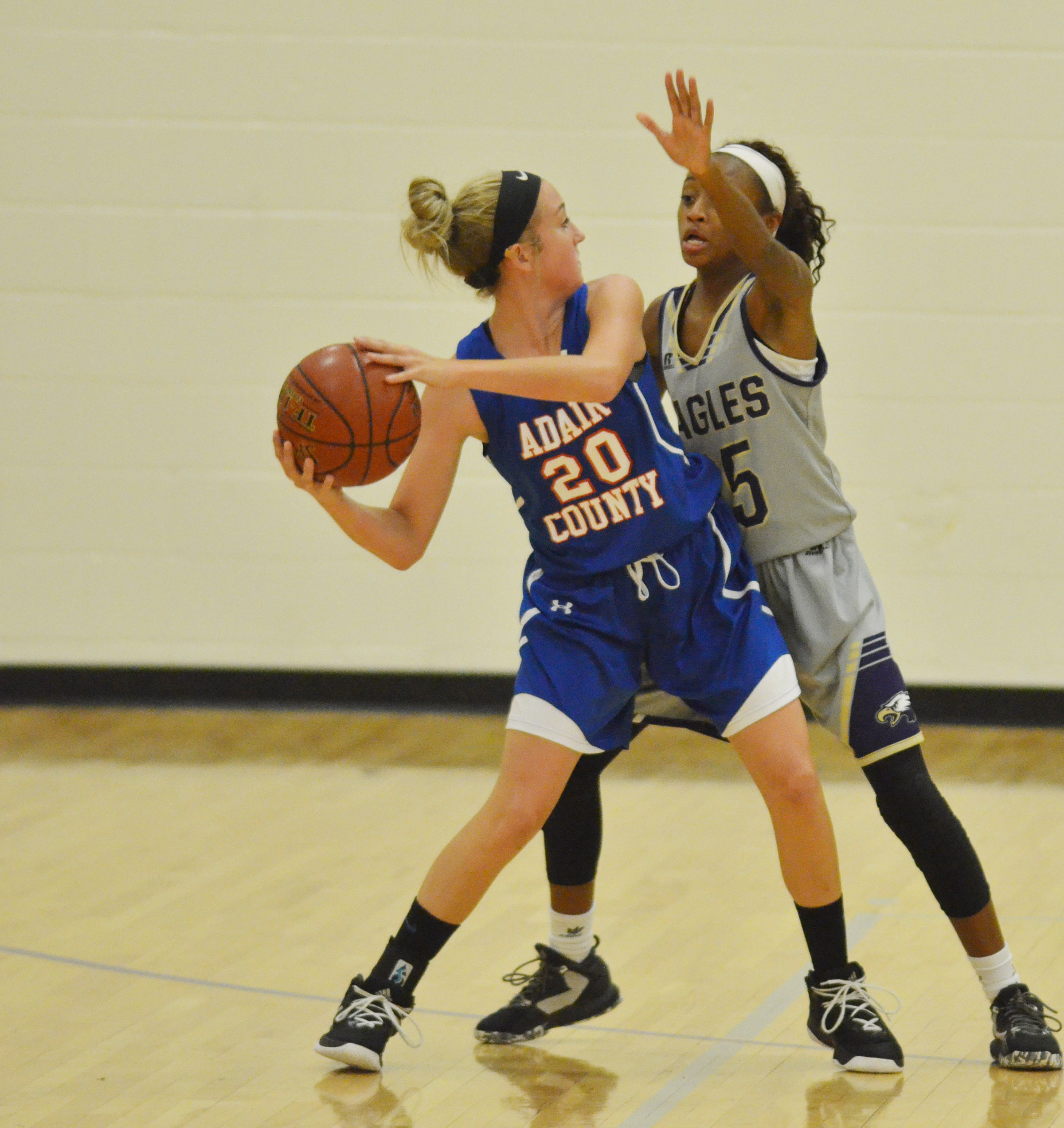 CMS eighth-graders Bri Gowdy plays defense.