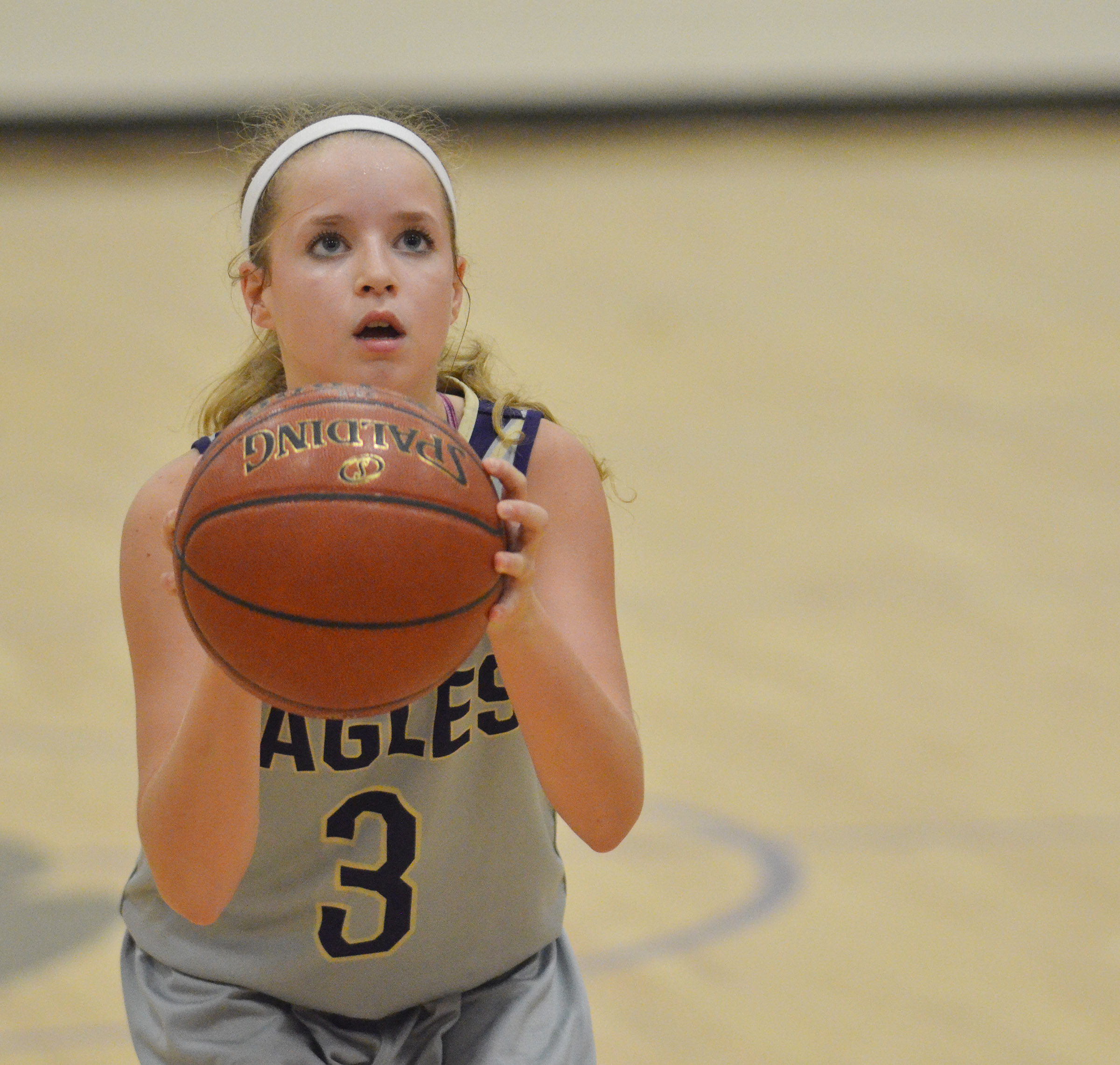 CMS eighth-grader Rylee Petett shoots the ball.