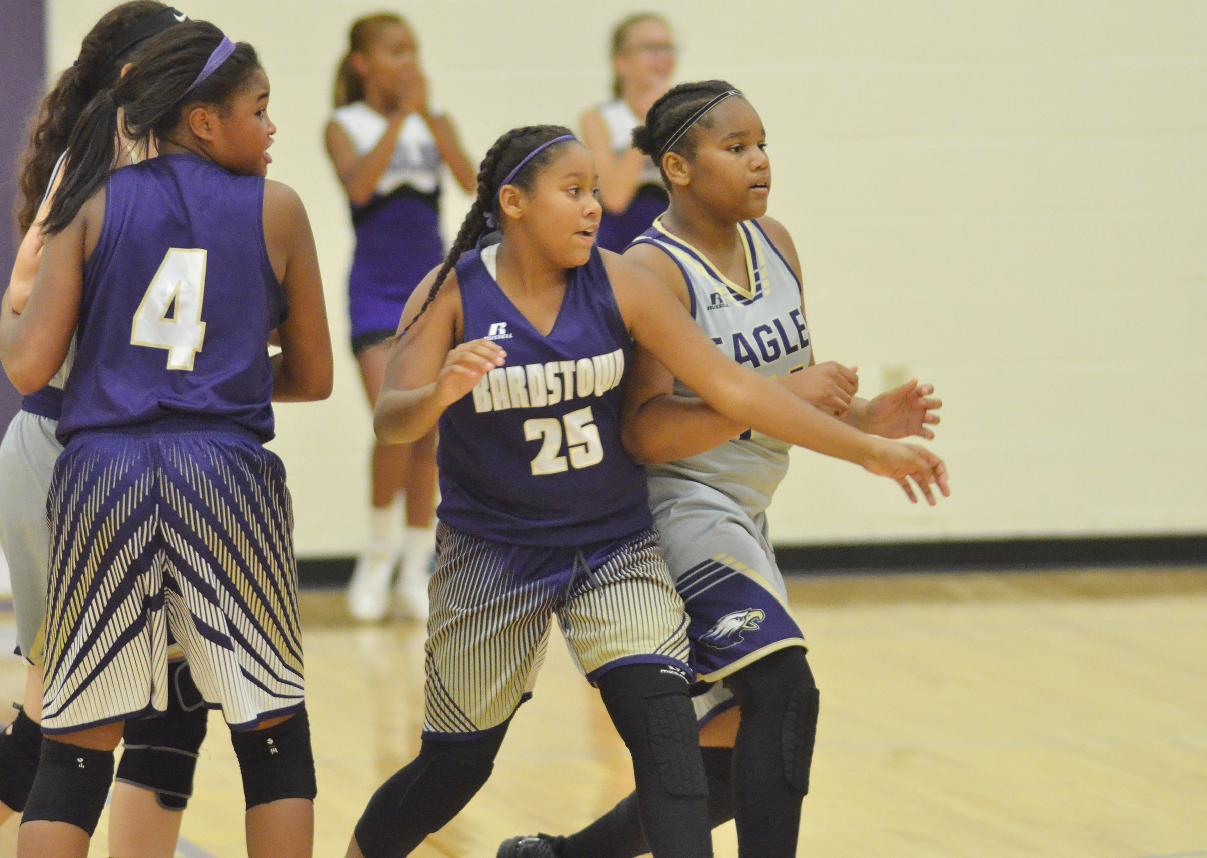 CMS seventh-grader Antaya Epps plays defense.
