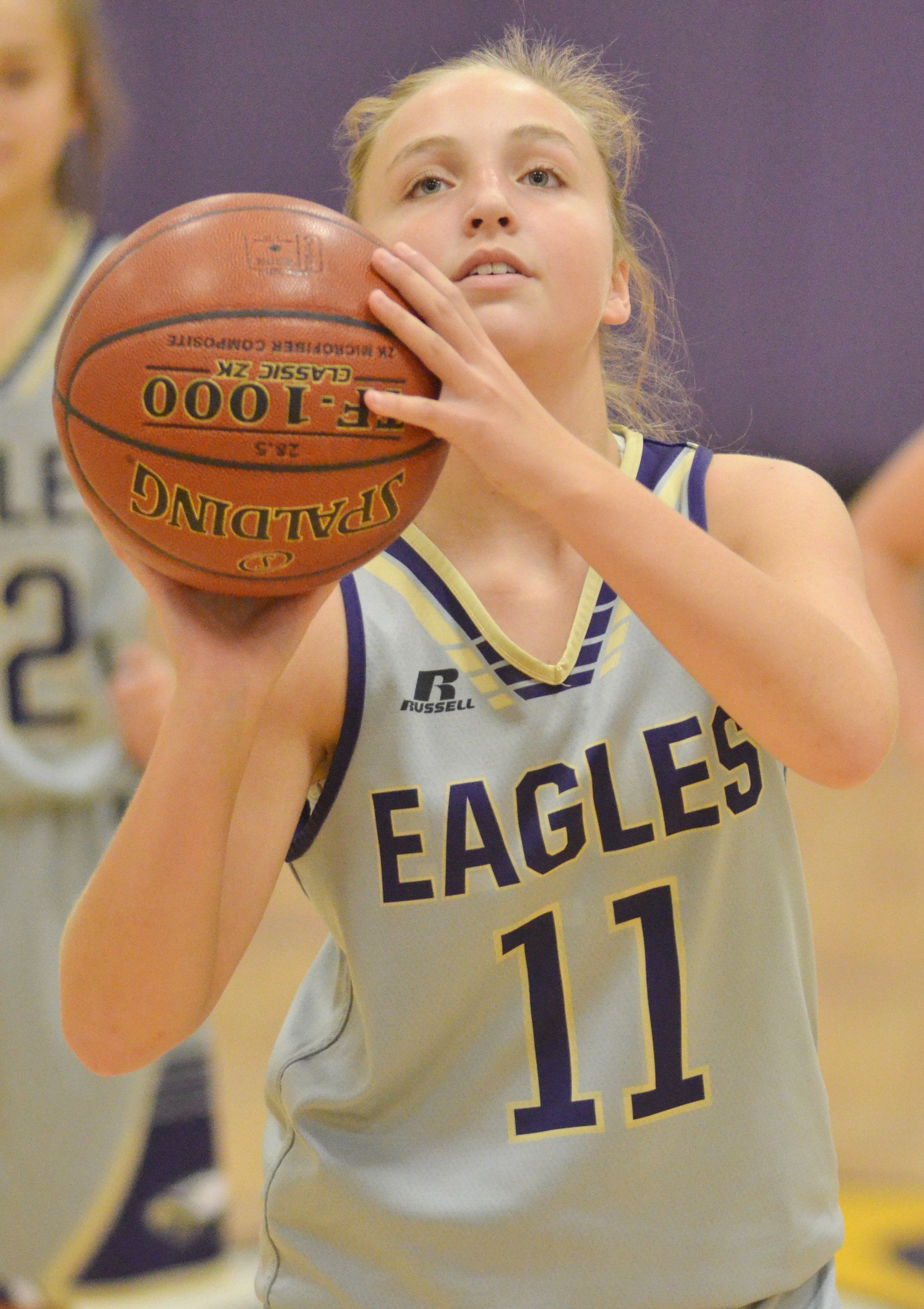 CMS eighth-grader Lainey Watson shoots.
