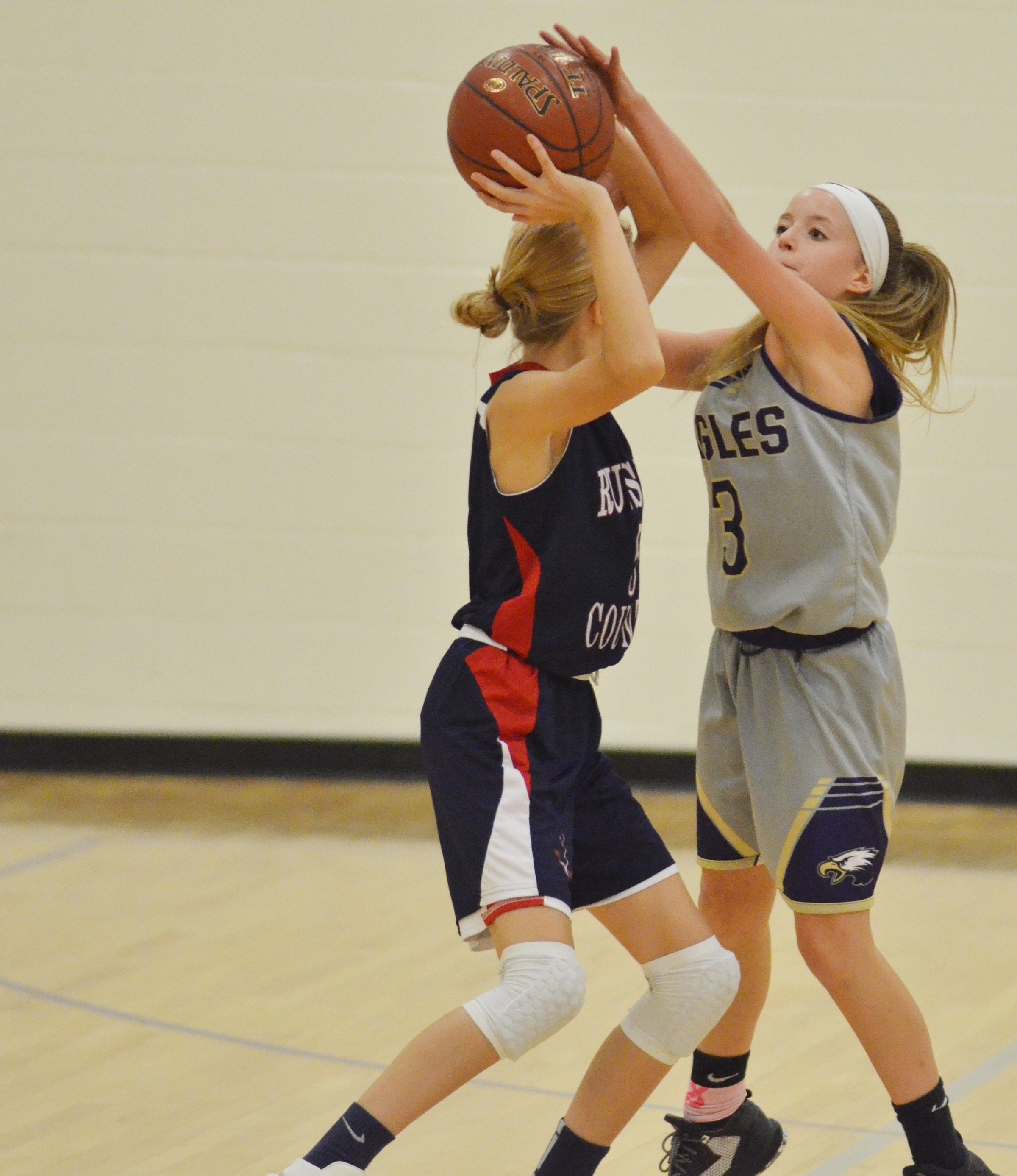 CMS eighth-grade Rylee Petett steals the ball.