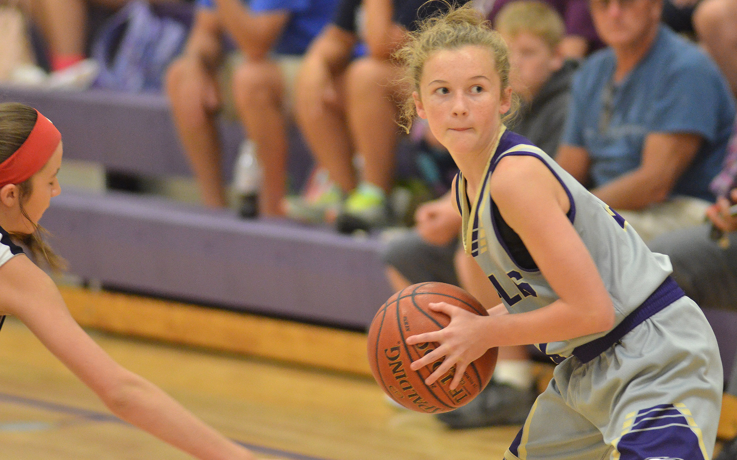 CMS seventh-grader Dakota Slone looks to pass.