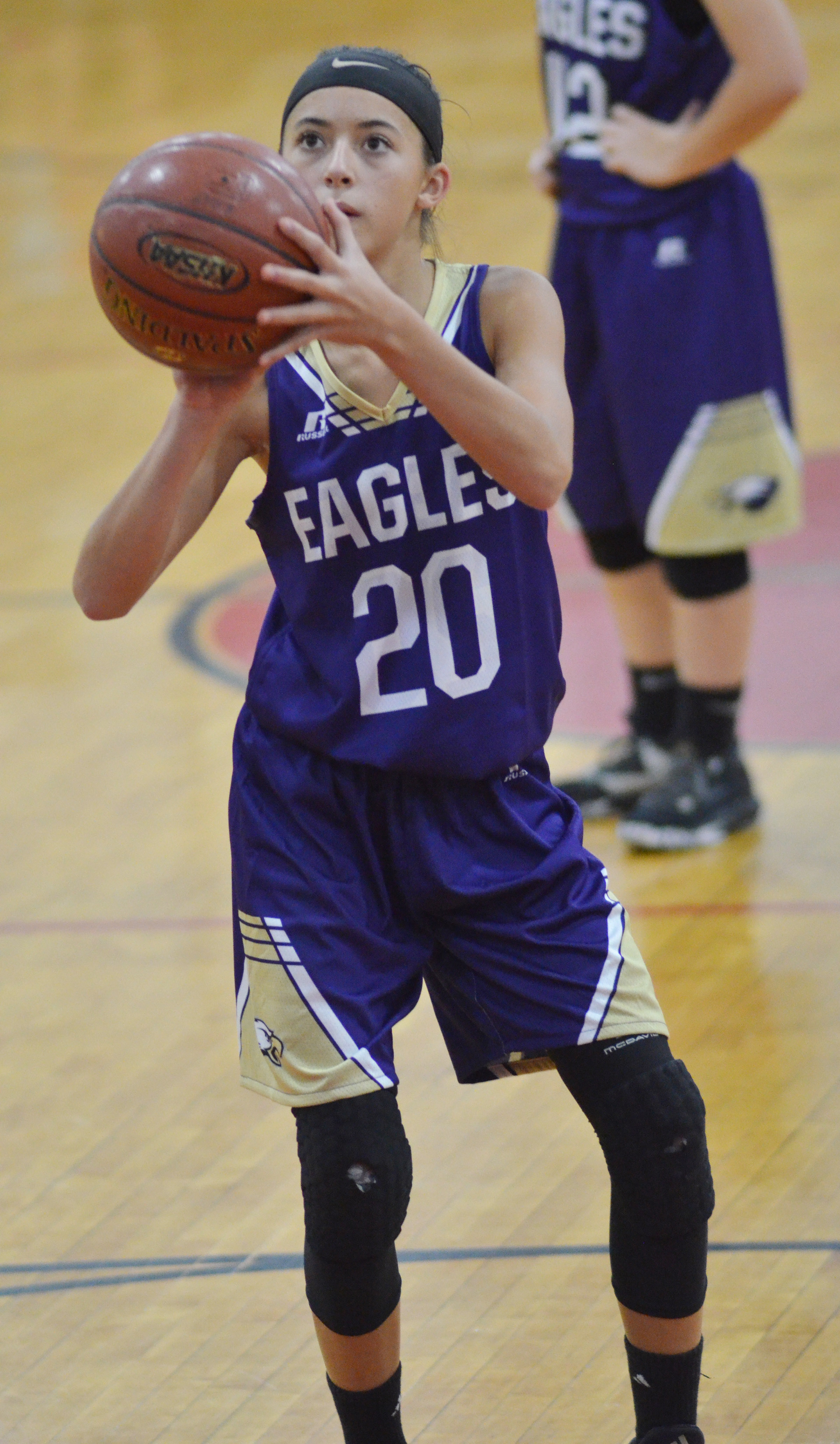 CMS eighth-grader Kaylyn Smith shoots the ball.