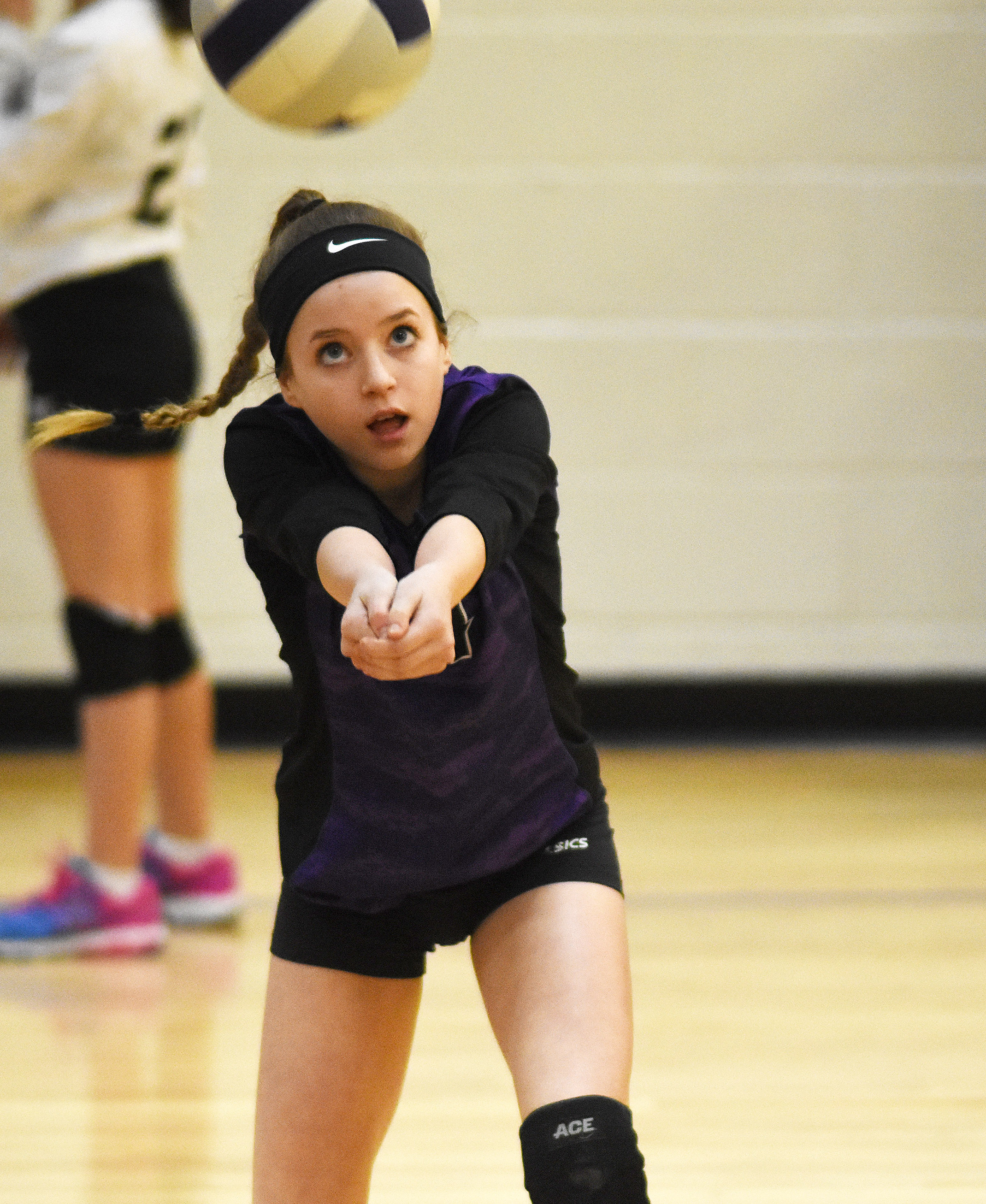 CMS eighth-grader Rylee Petett hits the ball.
