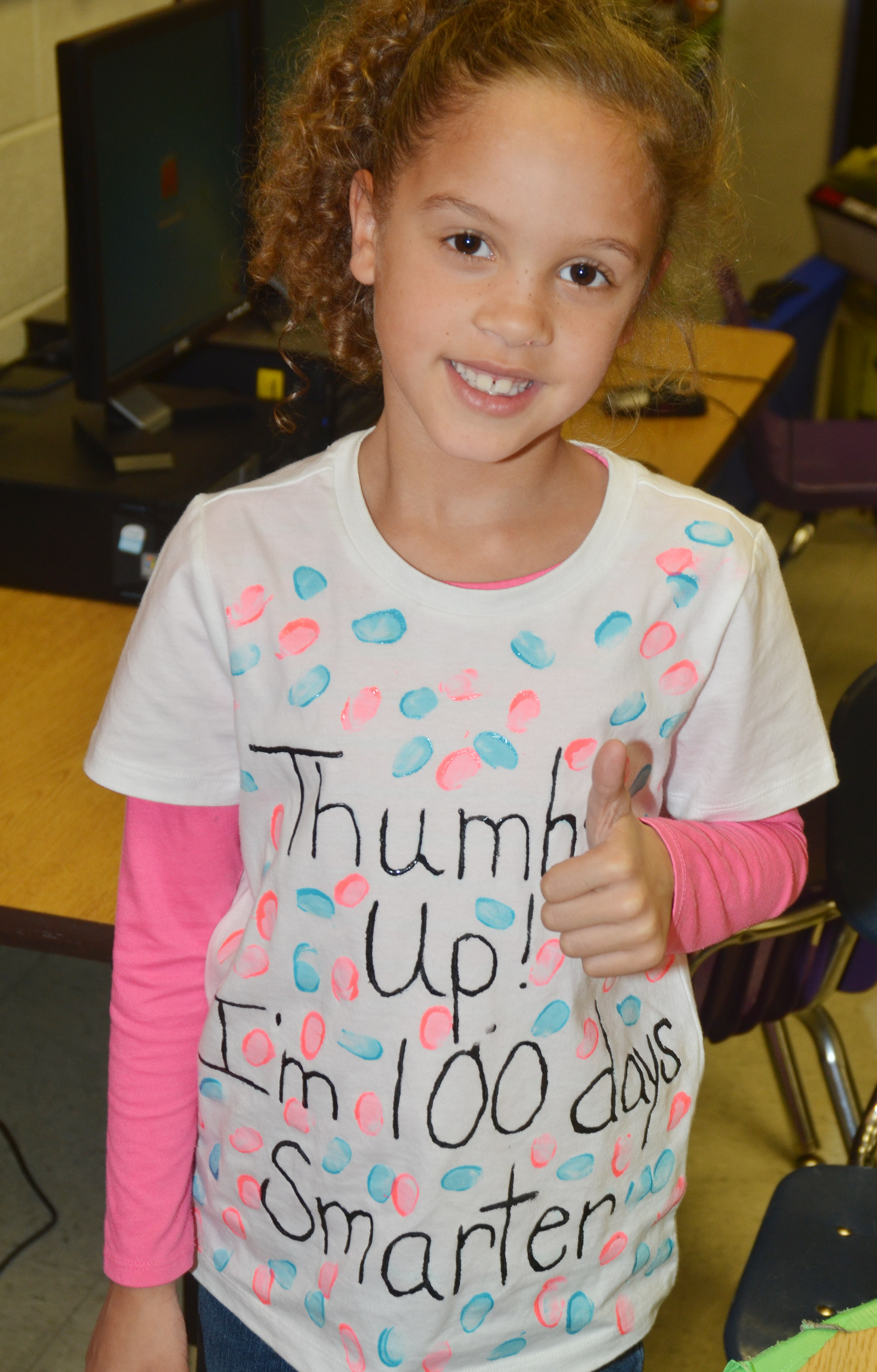 CES first-grader Keiava Thompson is 100 days smarter.