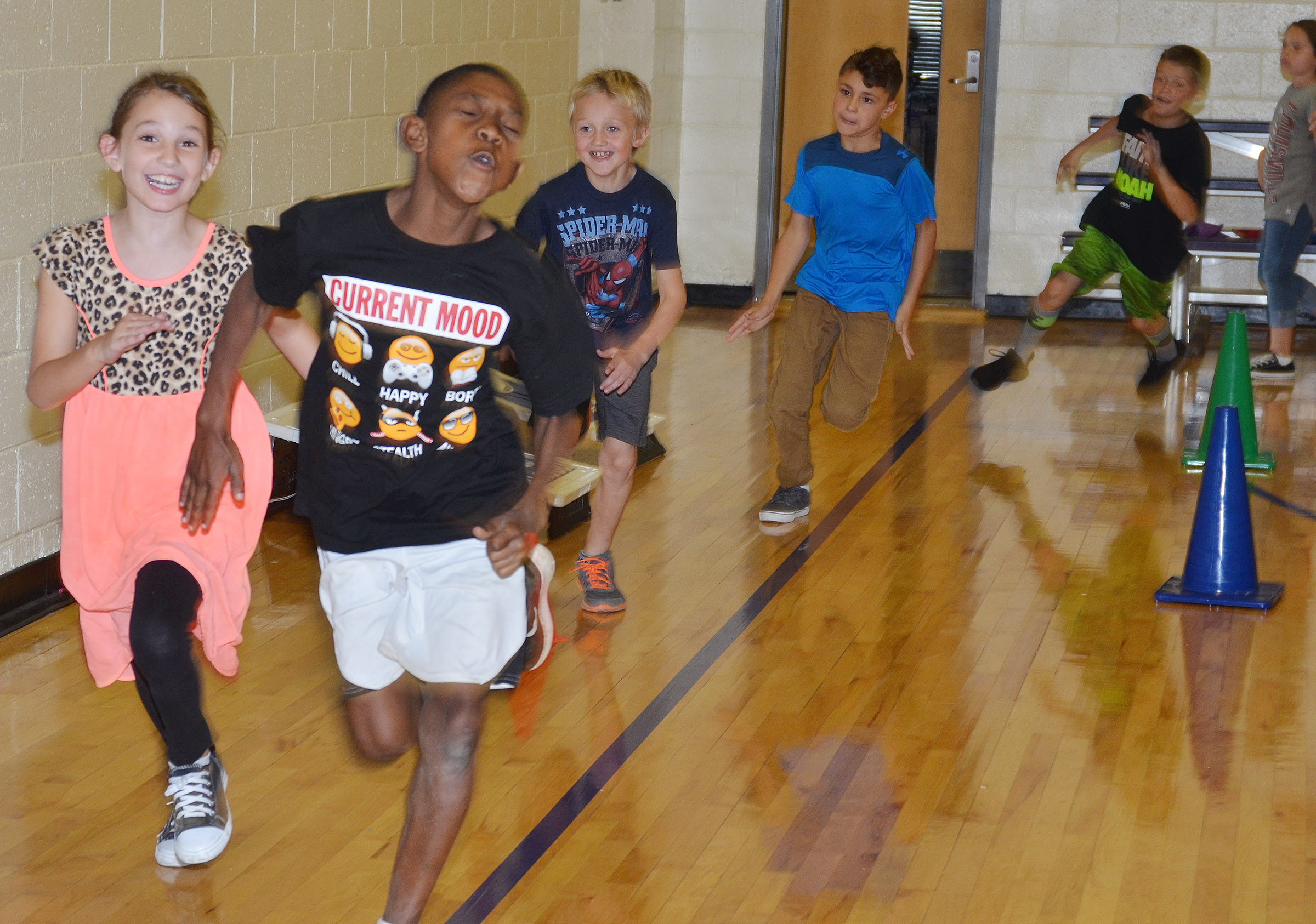 CES third-graders run together.