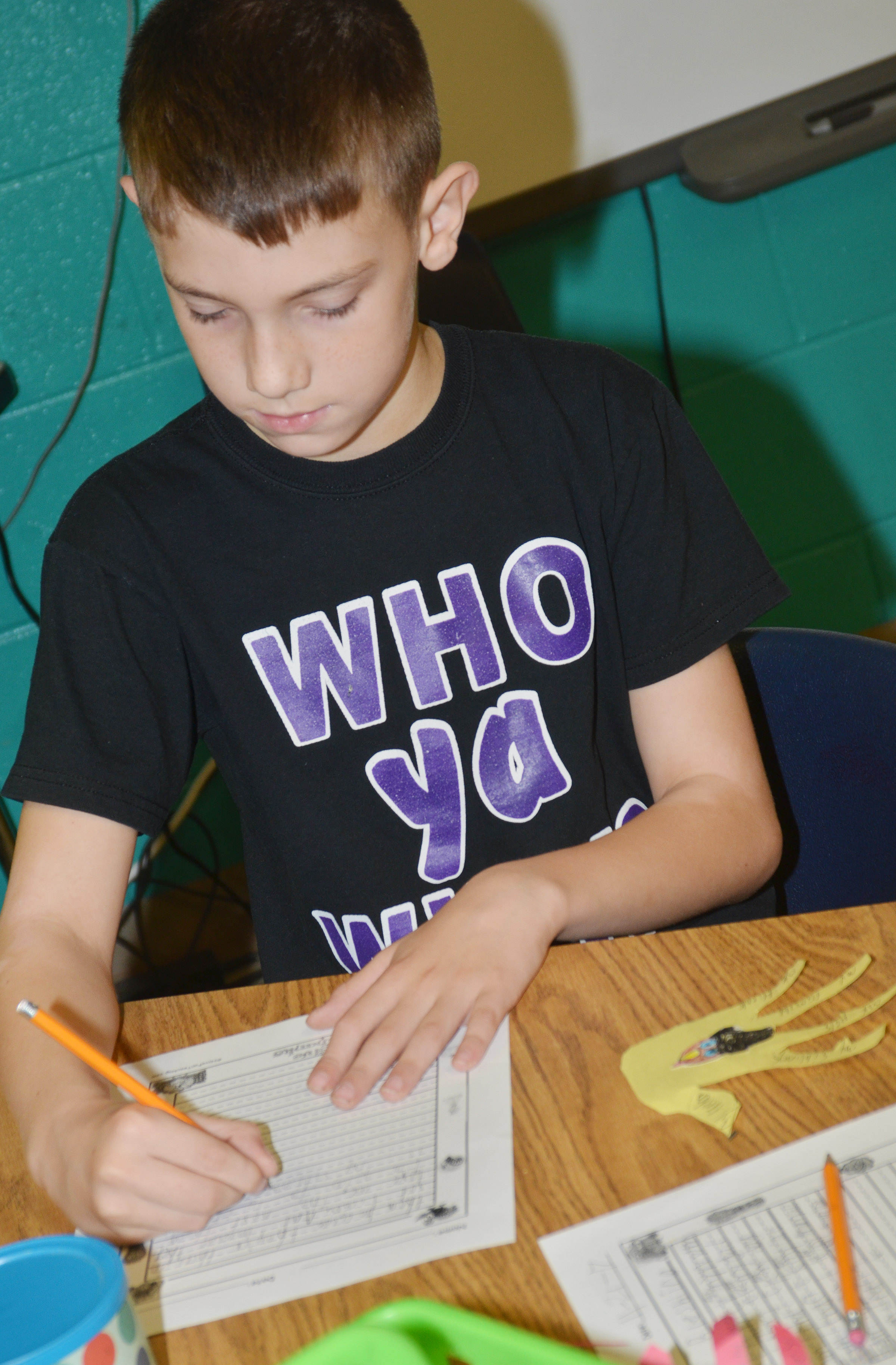 CES third-grader Aidan Wilson writes about what he is thankful for.
