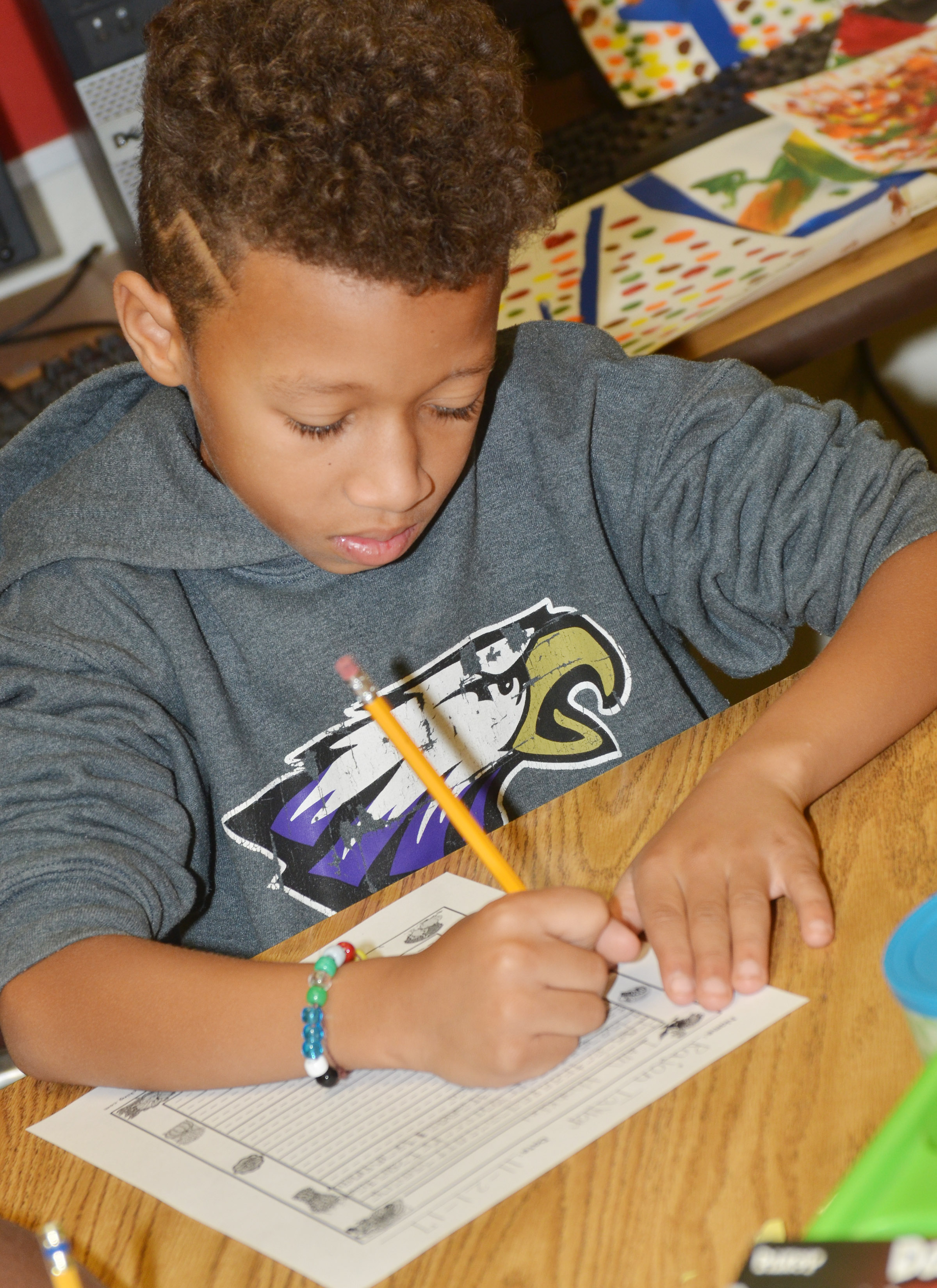 CES third-grader Rajon Taylor writes about what he is thankful for.