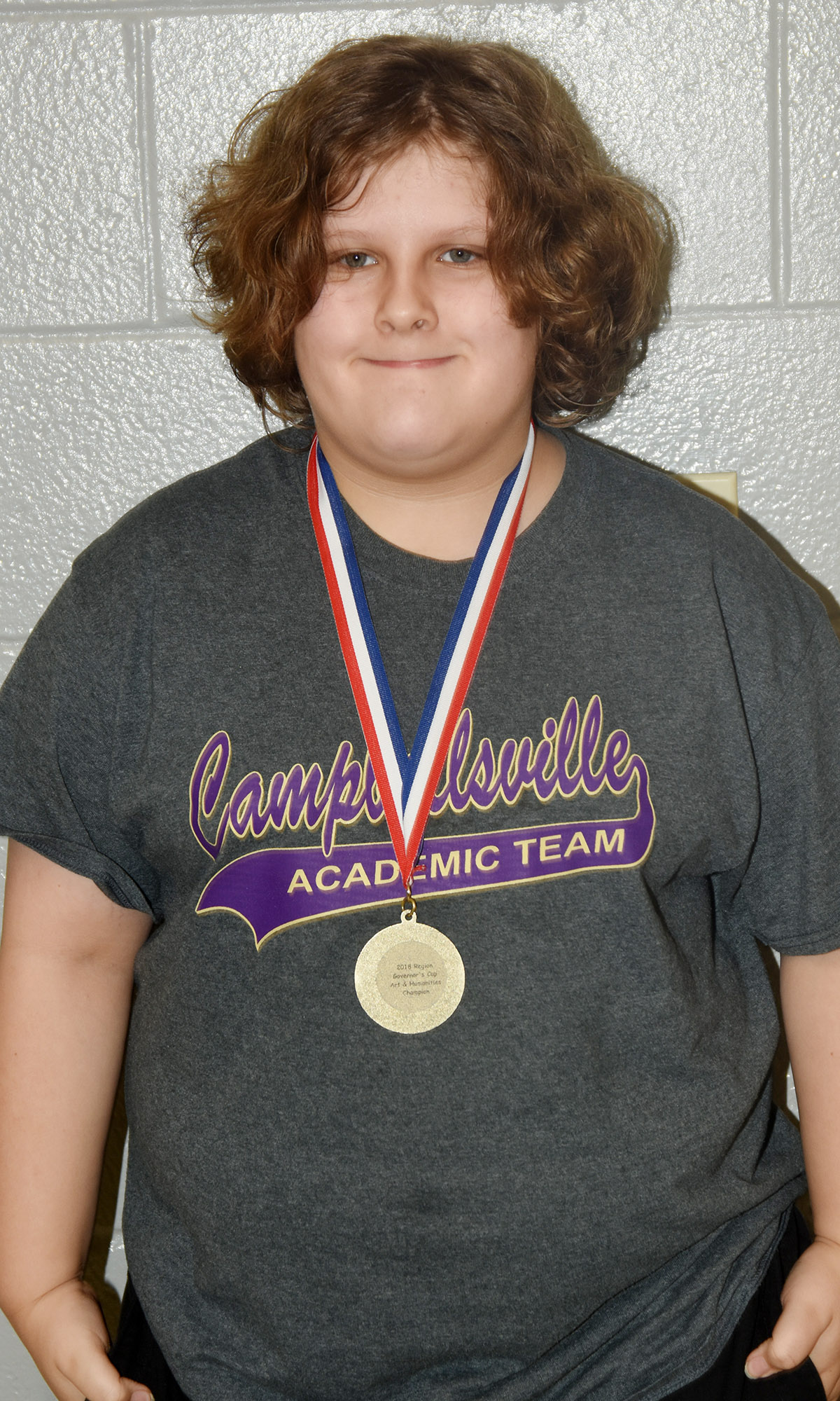 CES fifth-grader Zeke Harris won first place in the arts and humanities category at Region Governor's Cup competition.