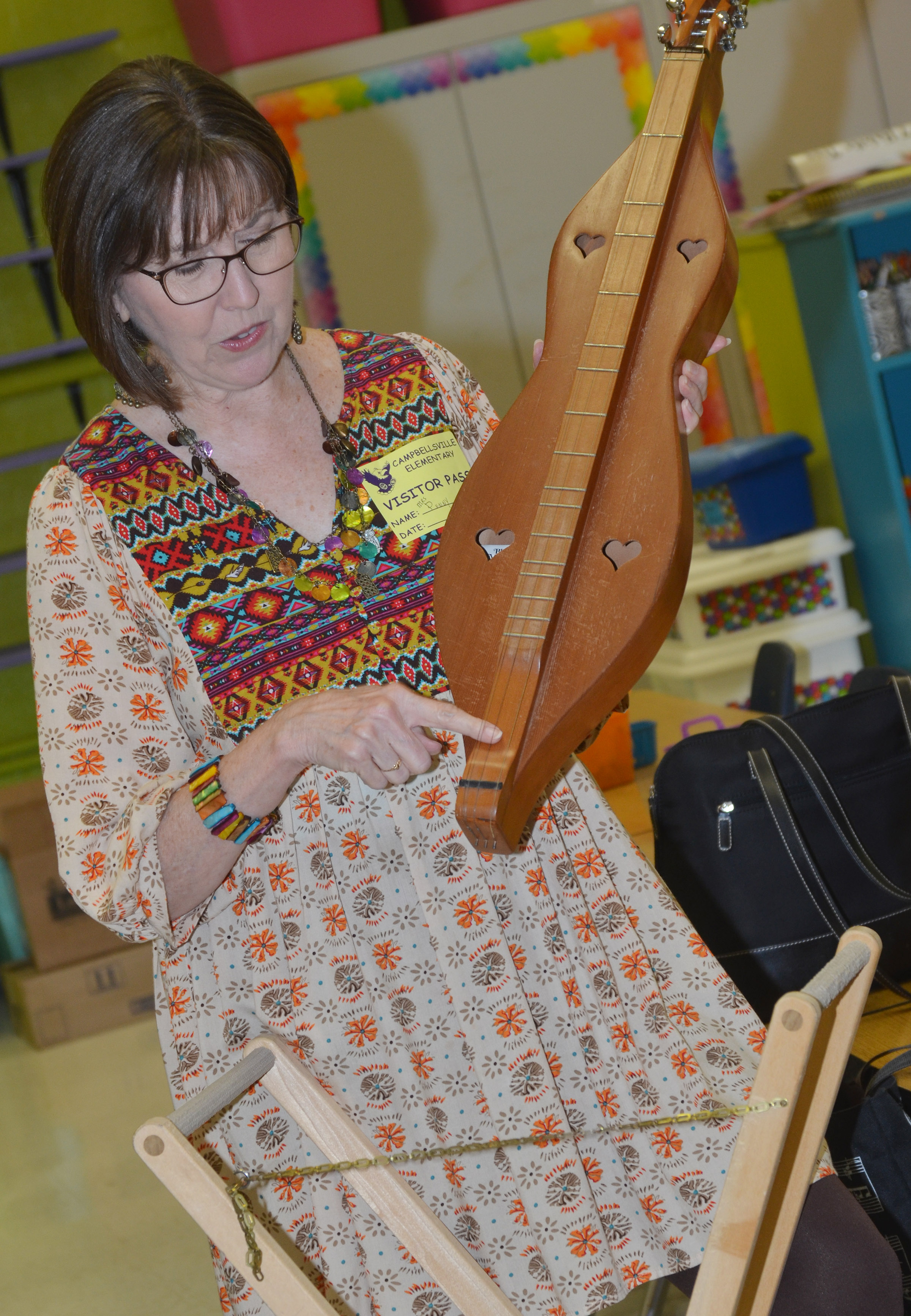 Penny Akers talks about the dulcimer.