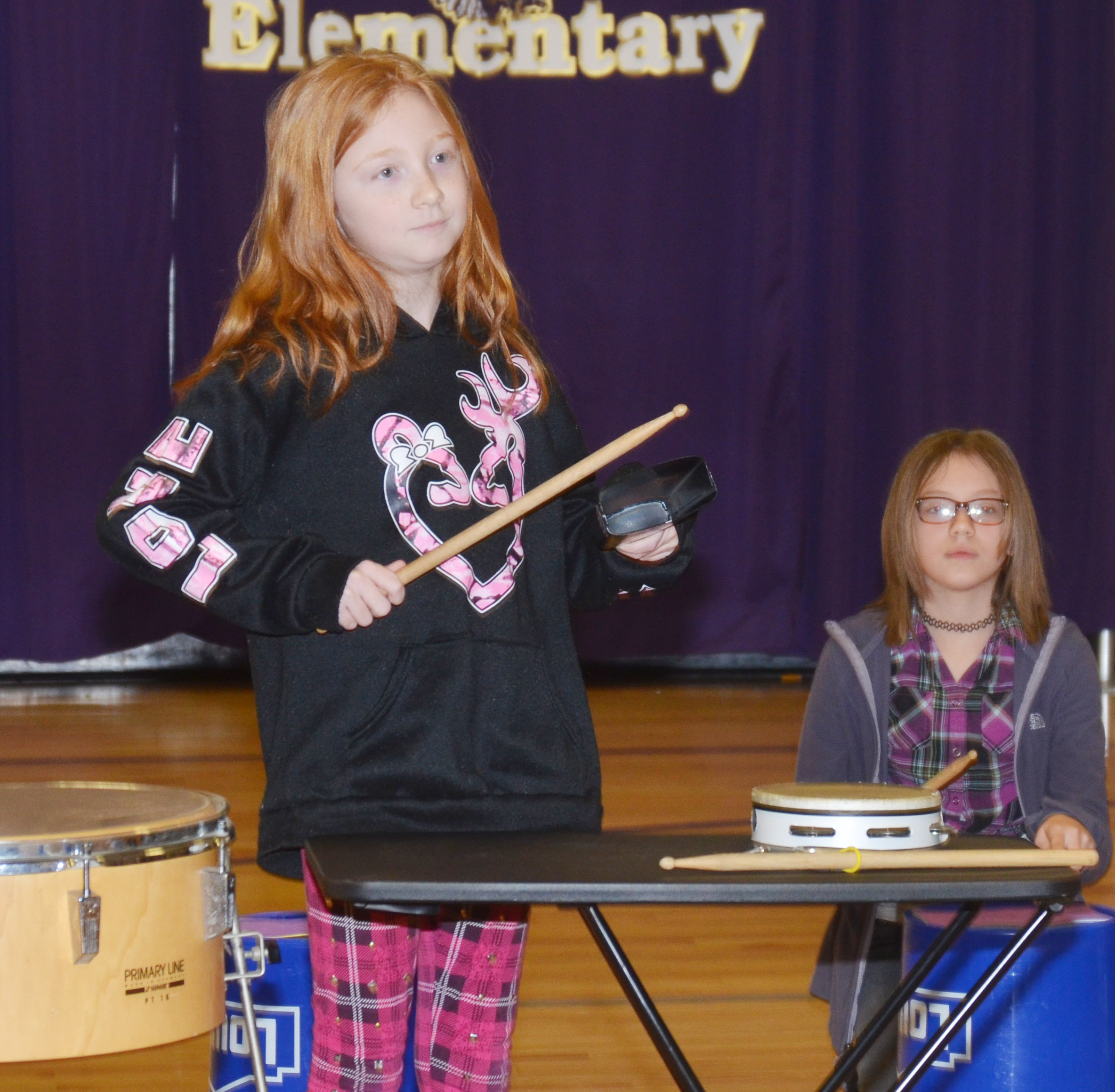 CES fourth-grader Savannah Wethington plays a solo.
