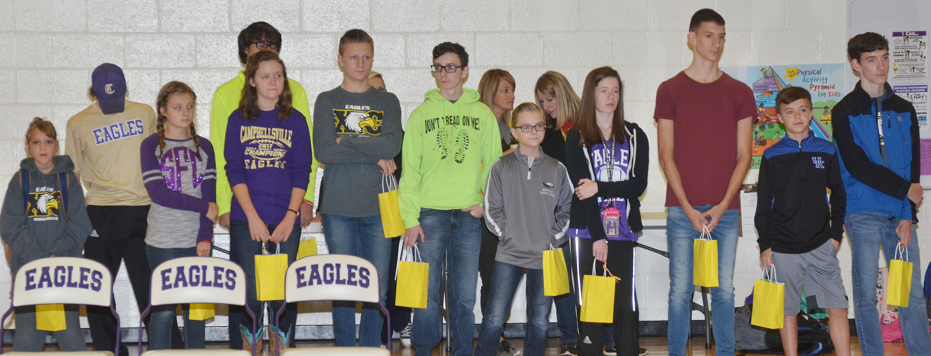 CHS cross country runners are honored at the CES assembly on Friday, Oct. 27.