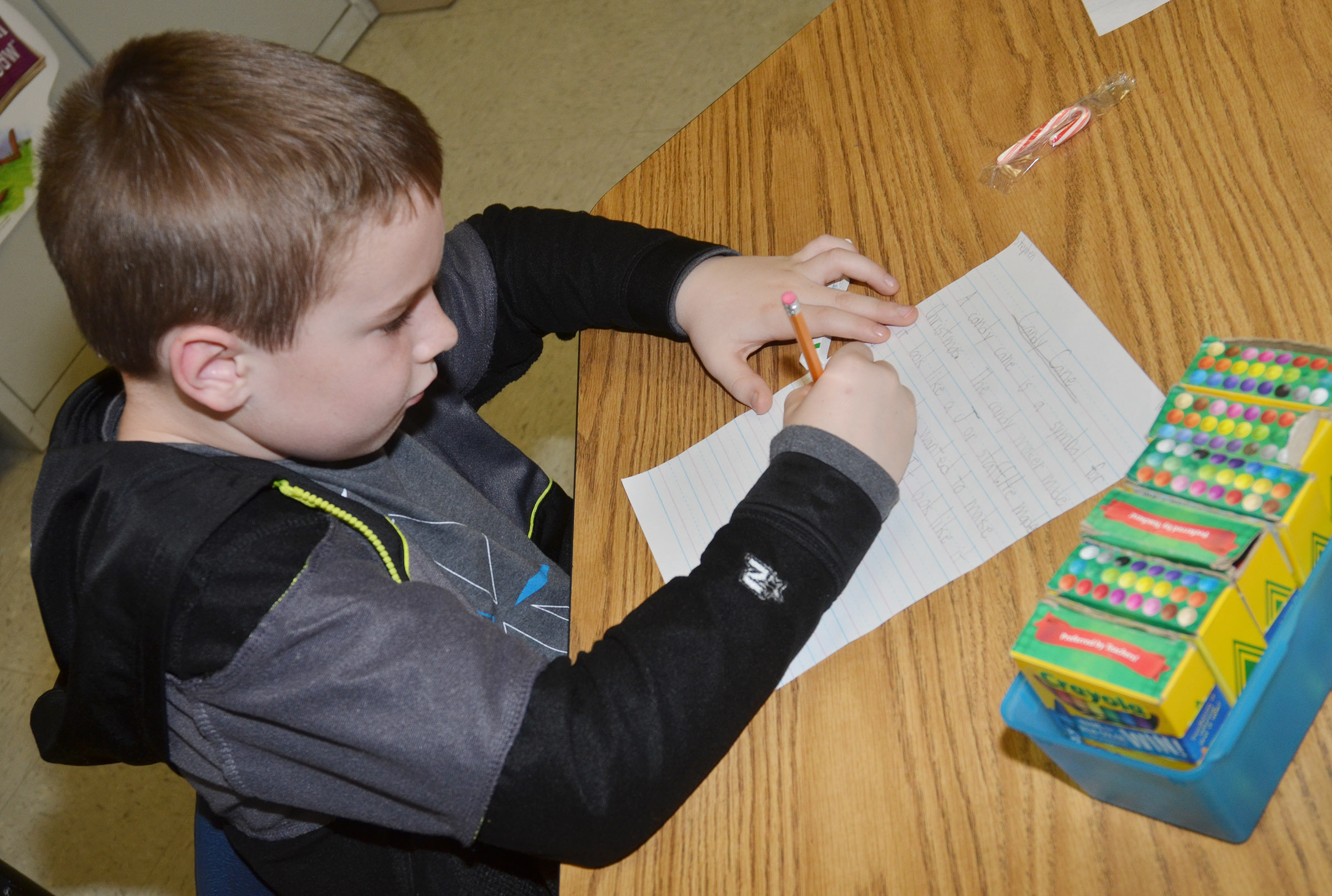 CES third-grader Stephen Green writes about candy canes.