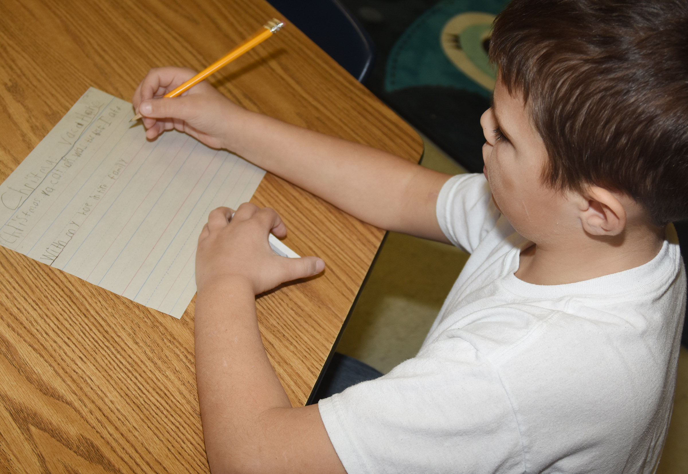 CES second-grader Jaxon Hunt writes about his Christmas vacation.