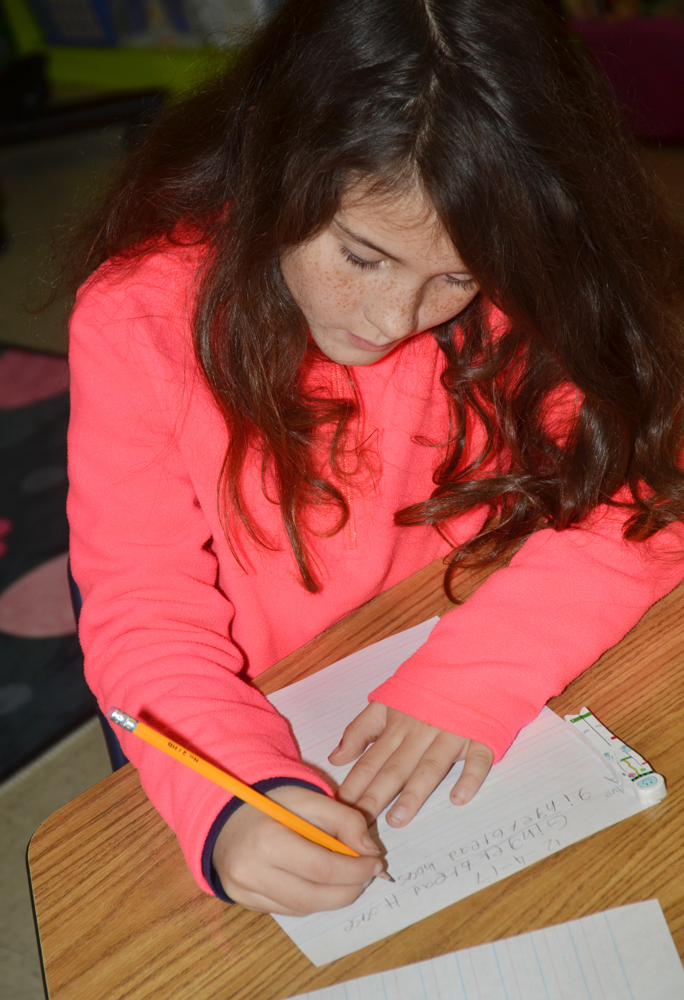 CES third-grader Ava Taylor writes about gingerbread houses.