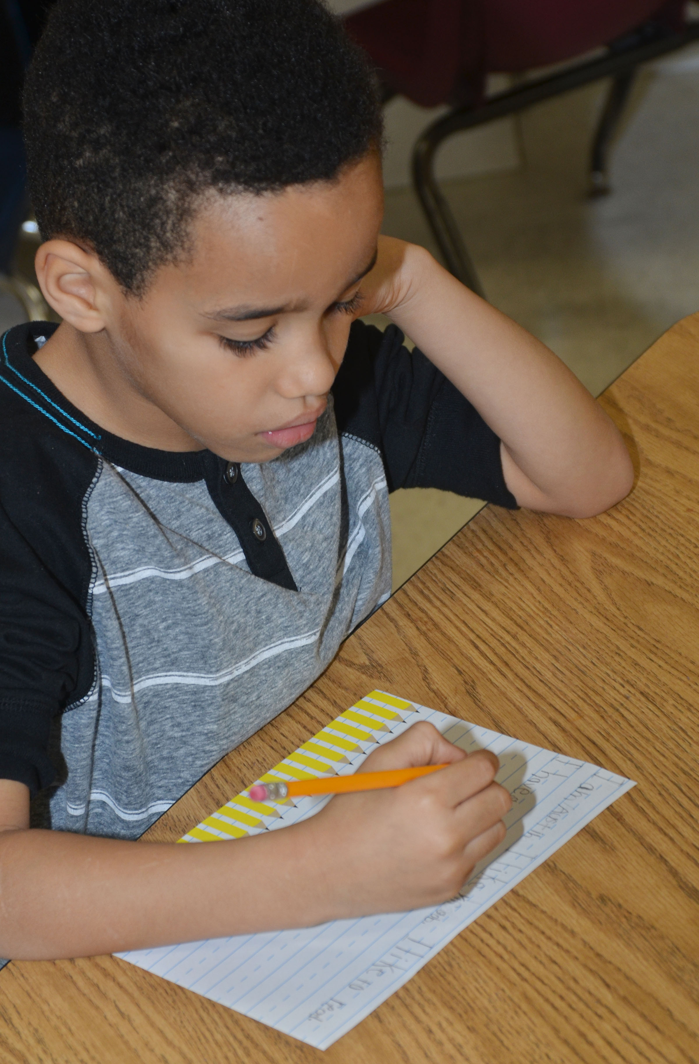 CES first-grader Austin Hamilton writes about how he is a leader.