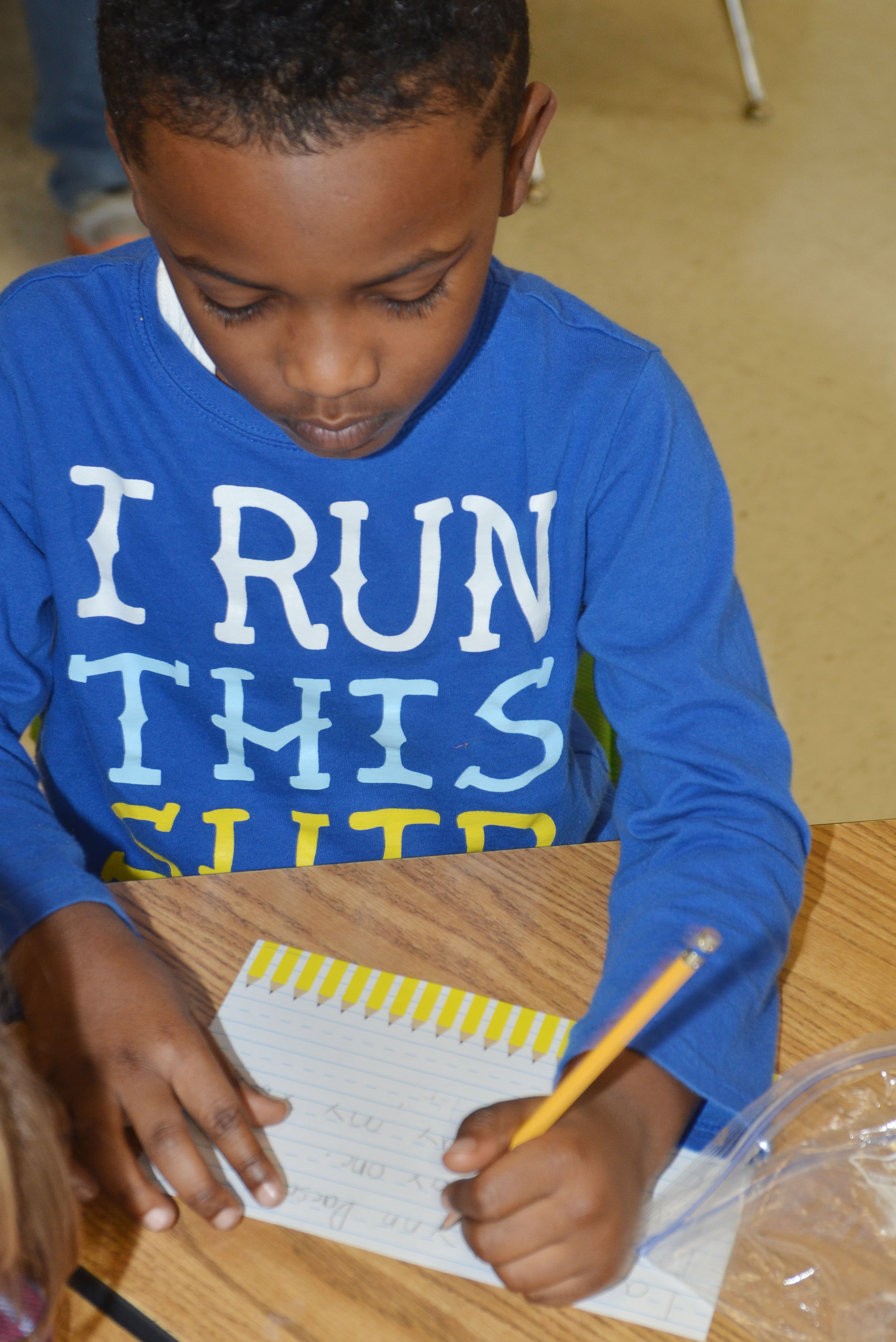 CES first-grader Drelynn Hollins writes about how he is a leader.
