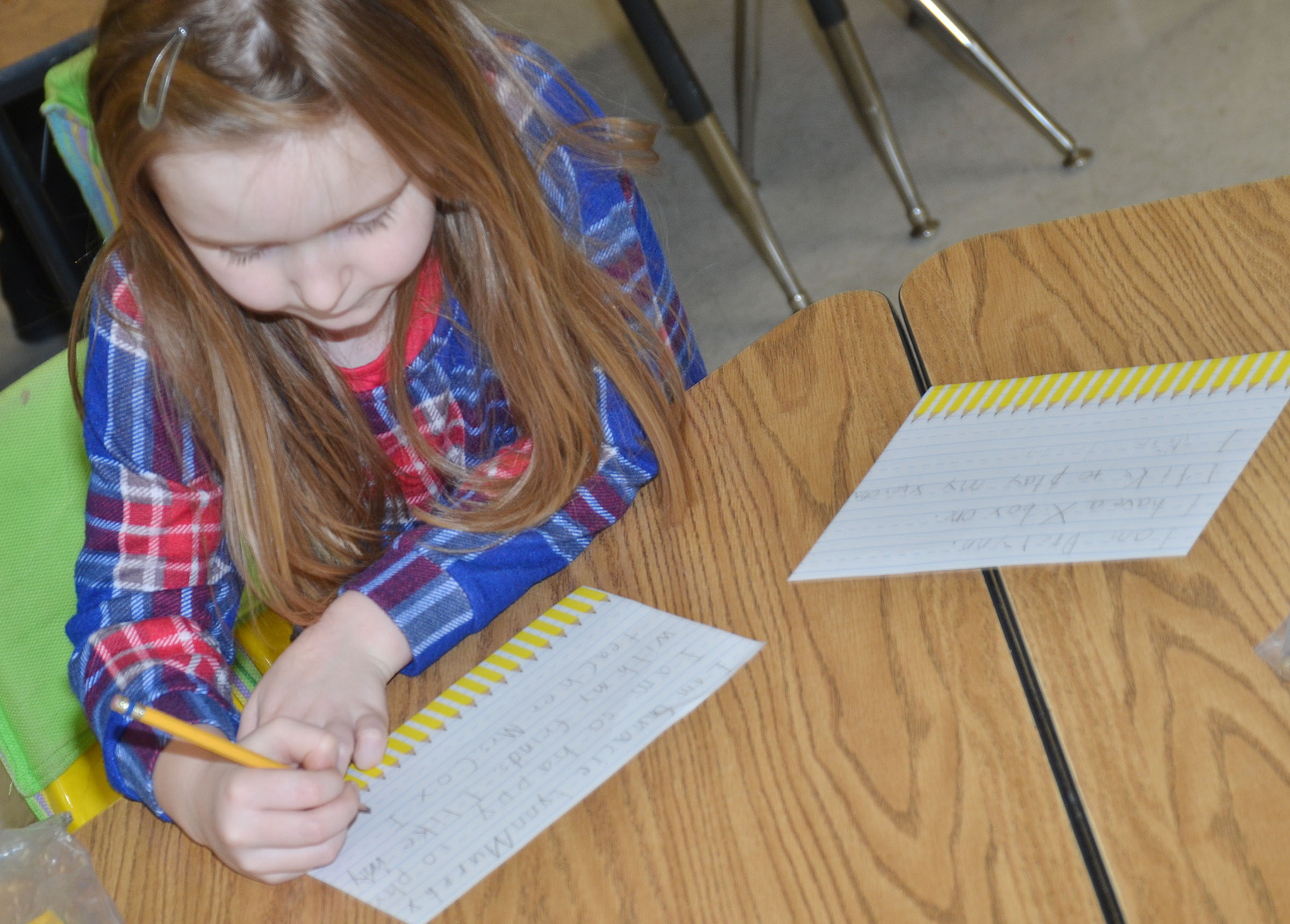 CES first-grader Gracie Murphy writes about how she is a leader.