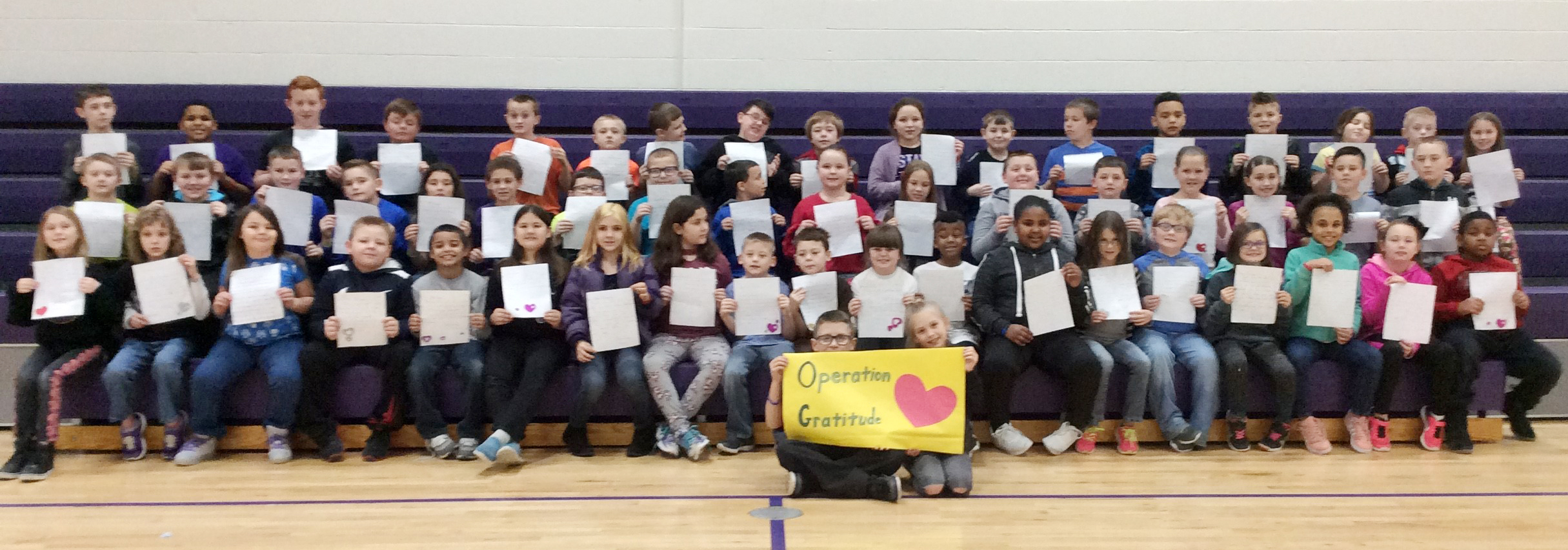Campbellsville Elementary School third-graders recently wrote letters to be included in Operation Gratitude care packages.