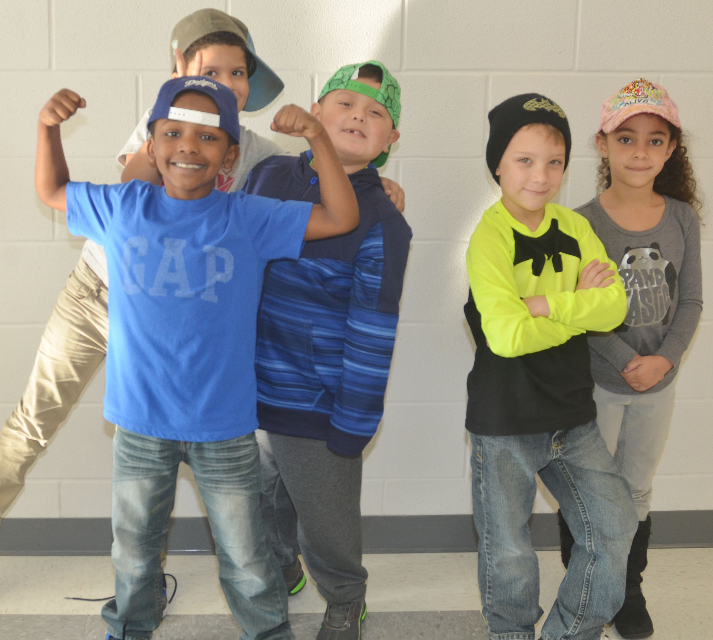 CES first-grade students in Shirley Cox's class wear hats to raise money for Crusade for Children.