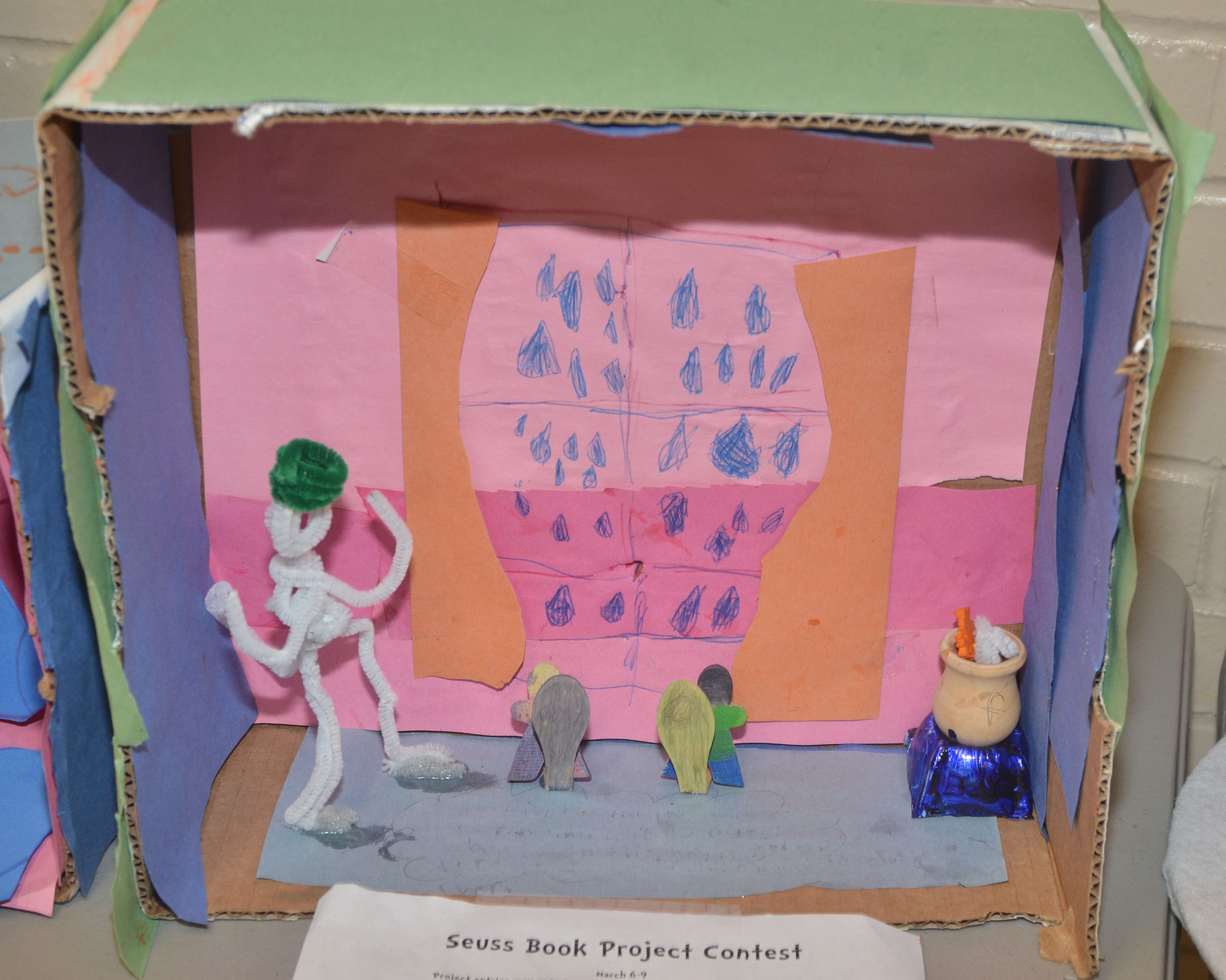 CES students participated in a Seuss Brook Project, hosted by the school's media center. Winners will be announced soon.