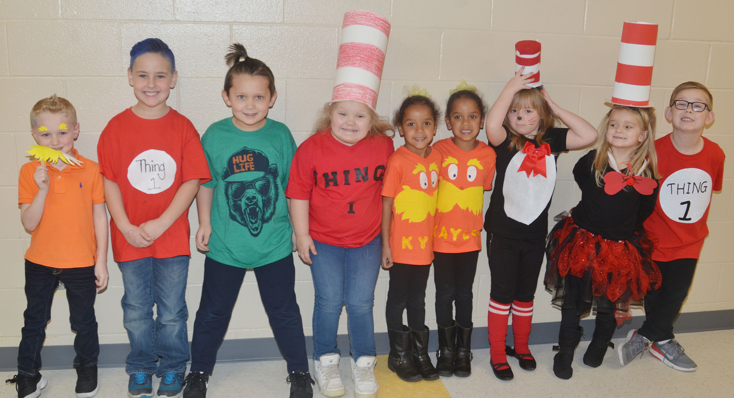 CES students dress for Seuss Character Day.