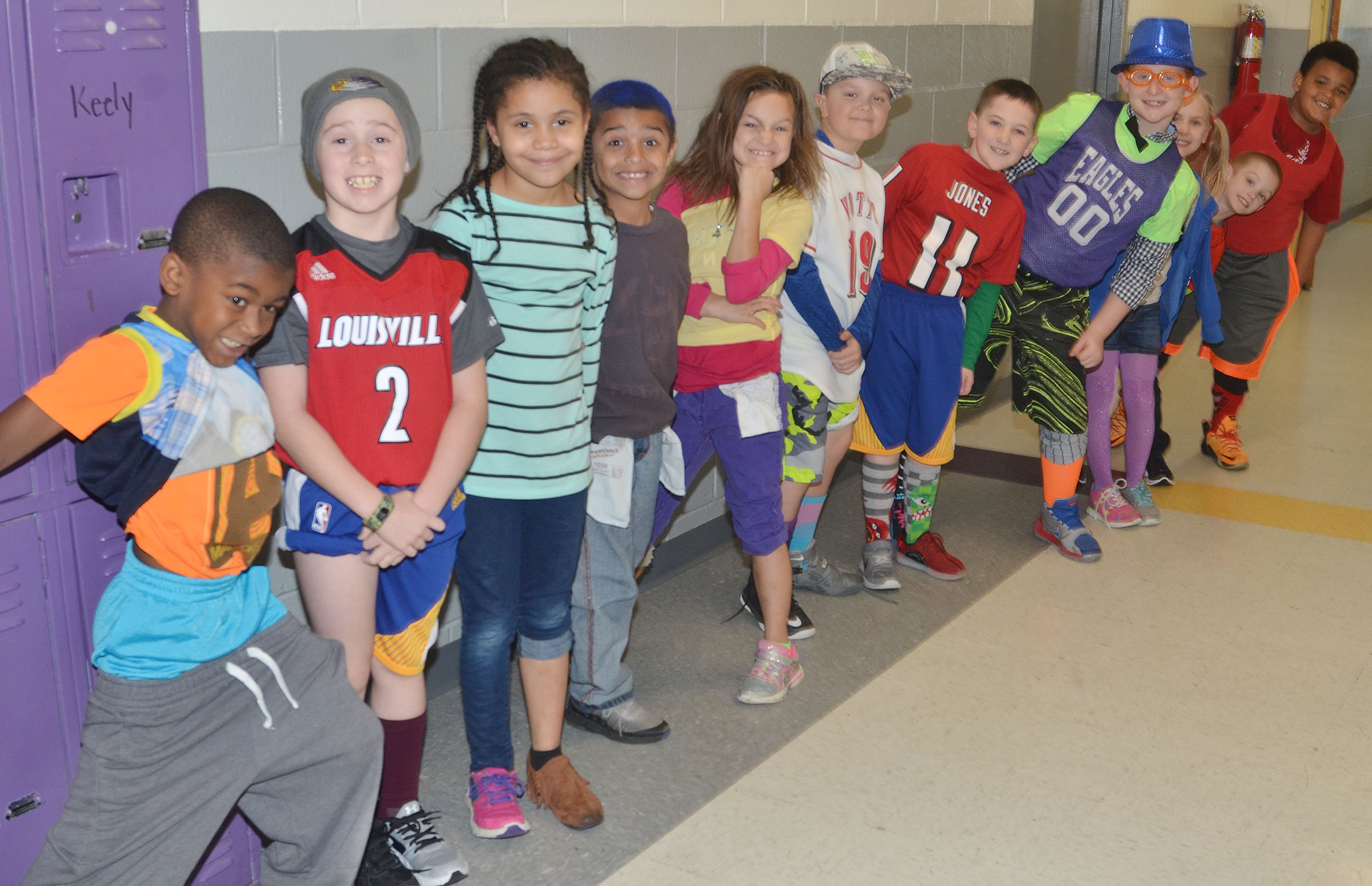 CES students dress for Wacky Wednesday.