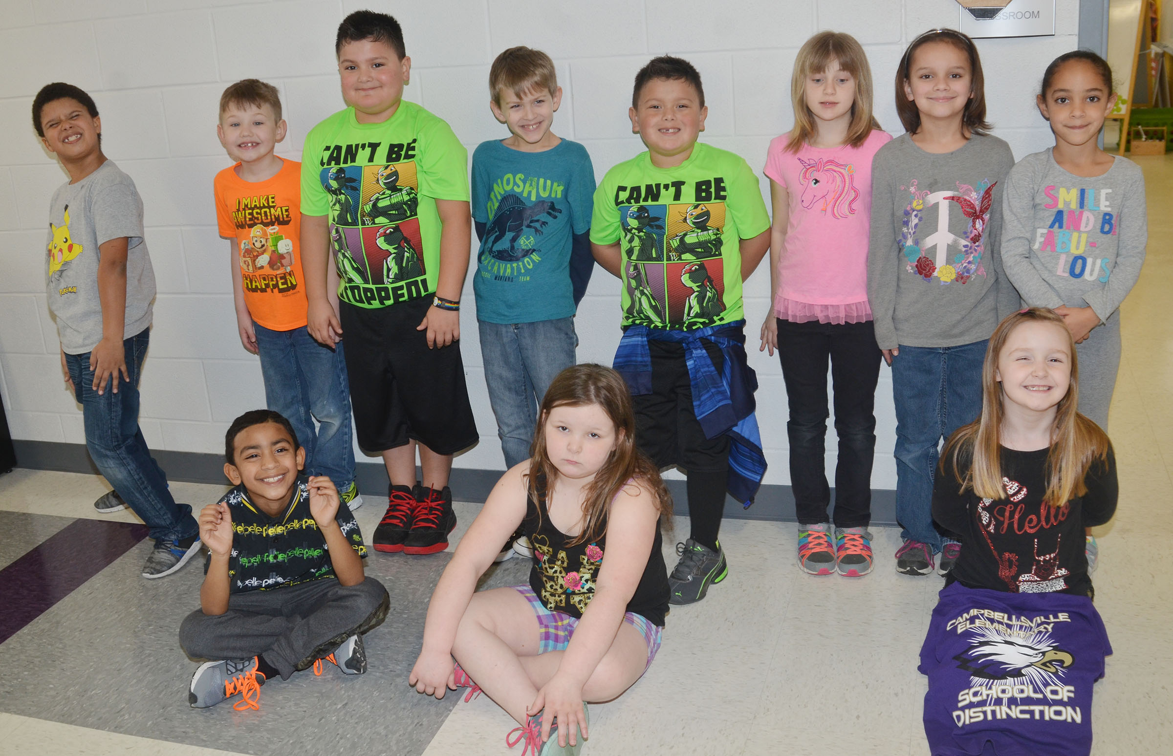 CES students dress for Multicolor Day.