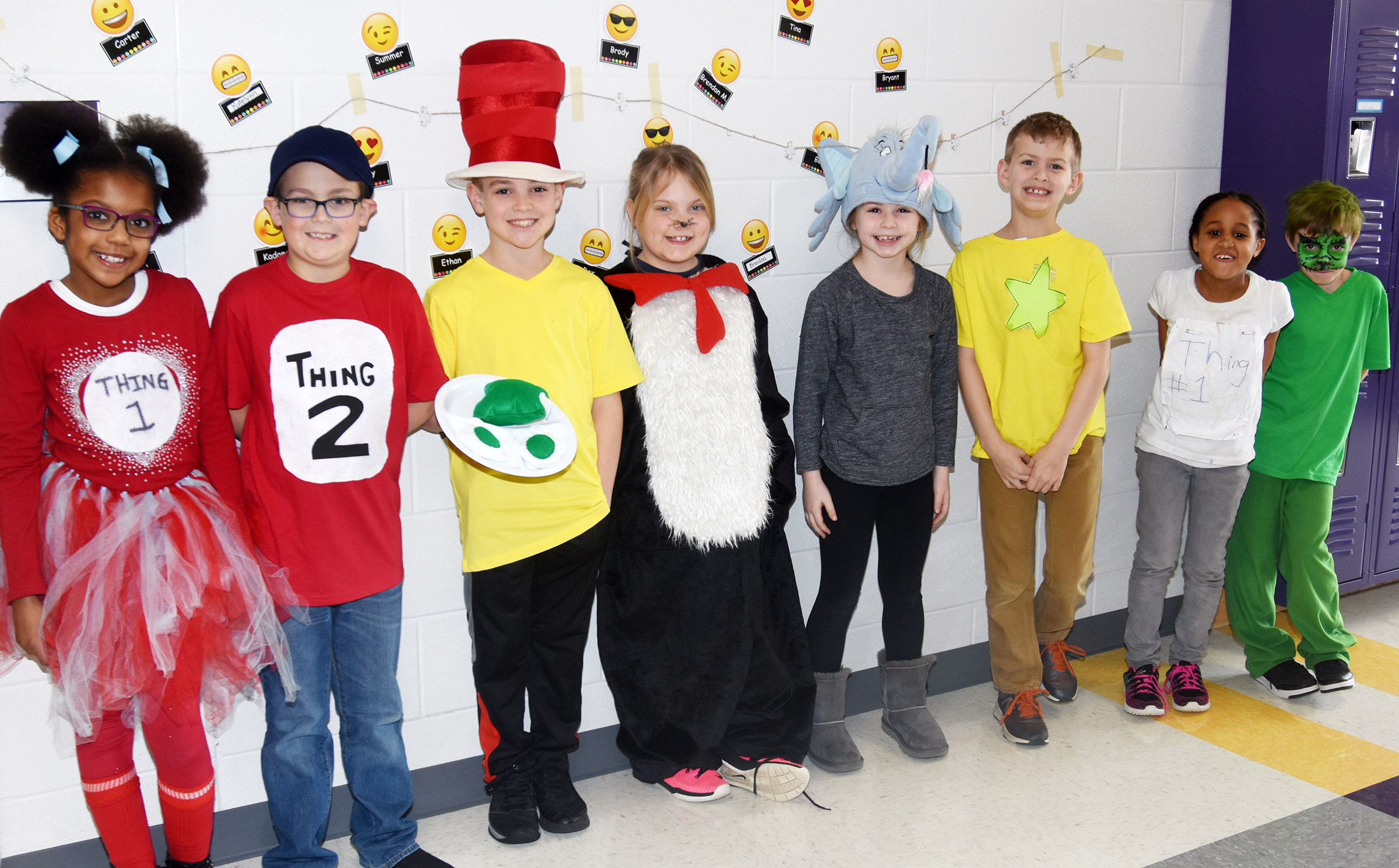 CES students dress as their favorite Dr. Suess characters for Seuss Day.