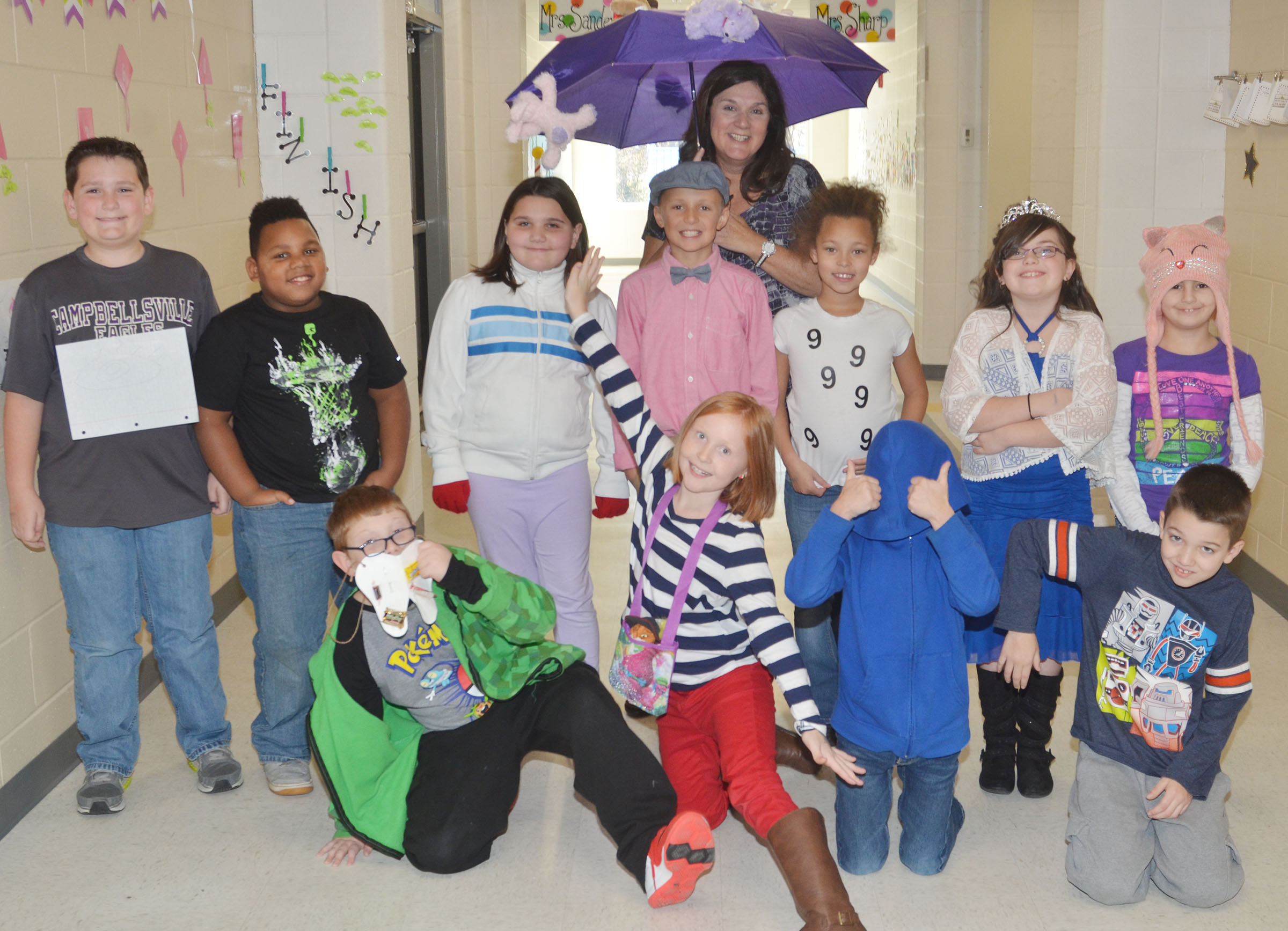 CES third-grade teacher Patty Haley's students dress as their favorite idioms.