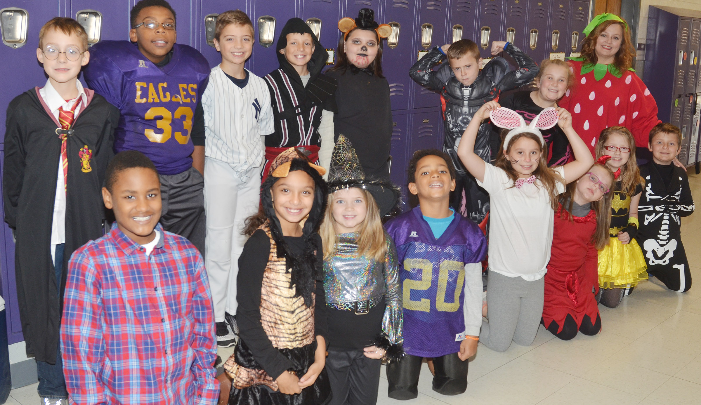 CES students wear their Halloween costumes to raise money for cystic fibrosis research.