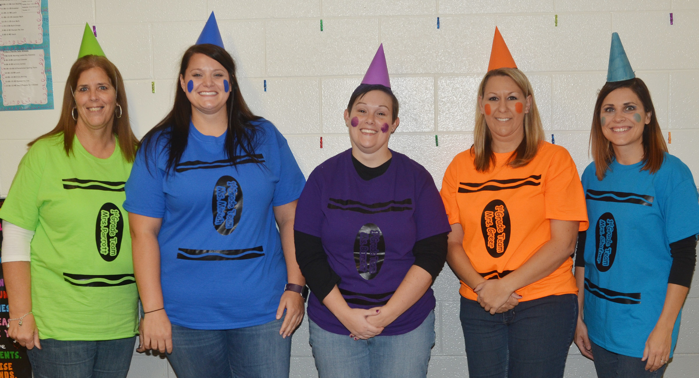 CES teachers and administrators wear their Halloween costumes to raise money for cystic fibrosis research.