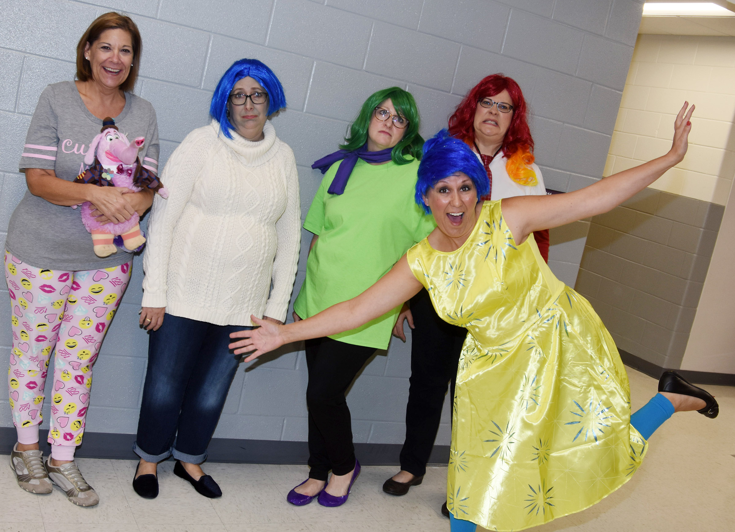 CES students and staff members dress in their Halloween costumes.