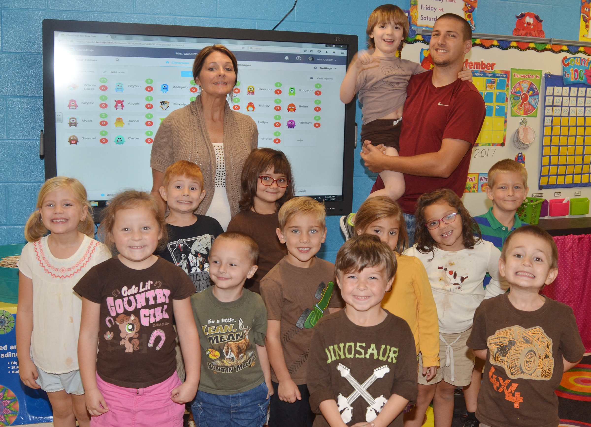 CES kindergarteners in Leanna Cundiff's class wear brown for Color Week.
