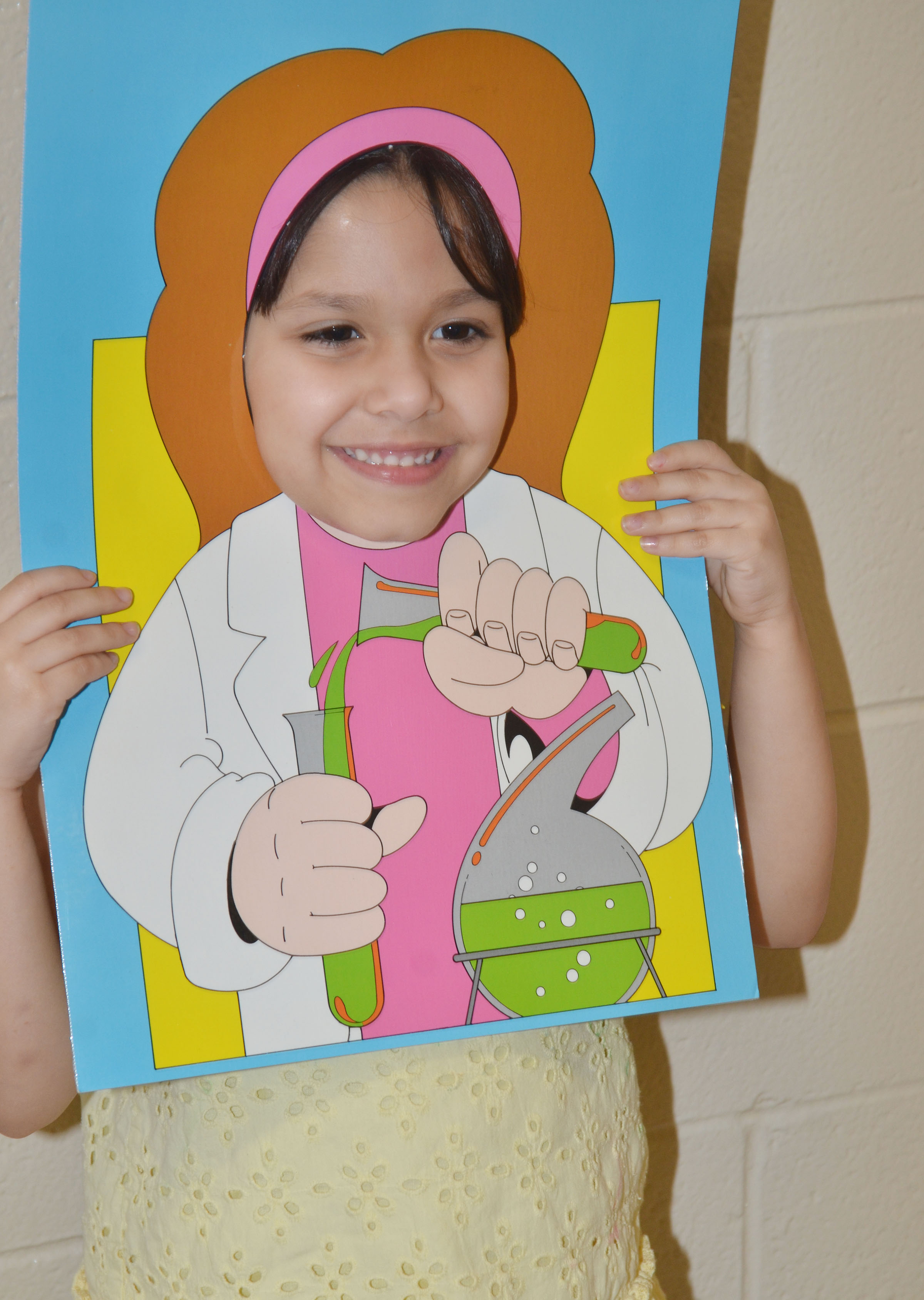CES kindergartener Carol Moura says she wants to be a chemist.
