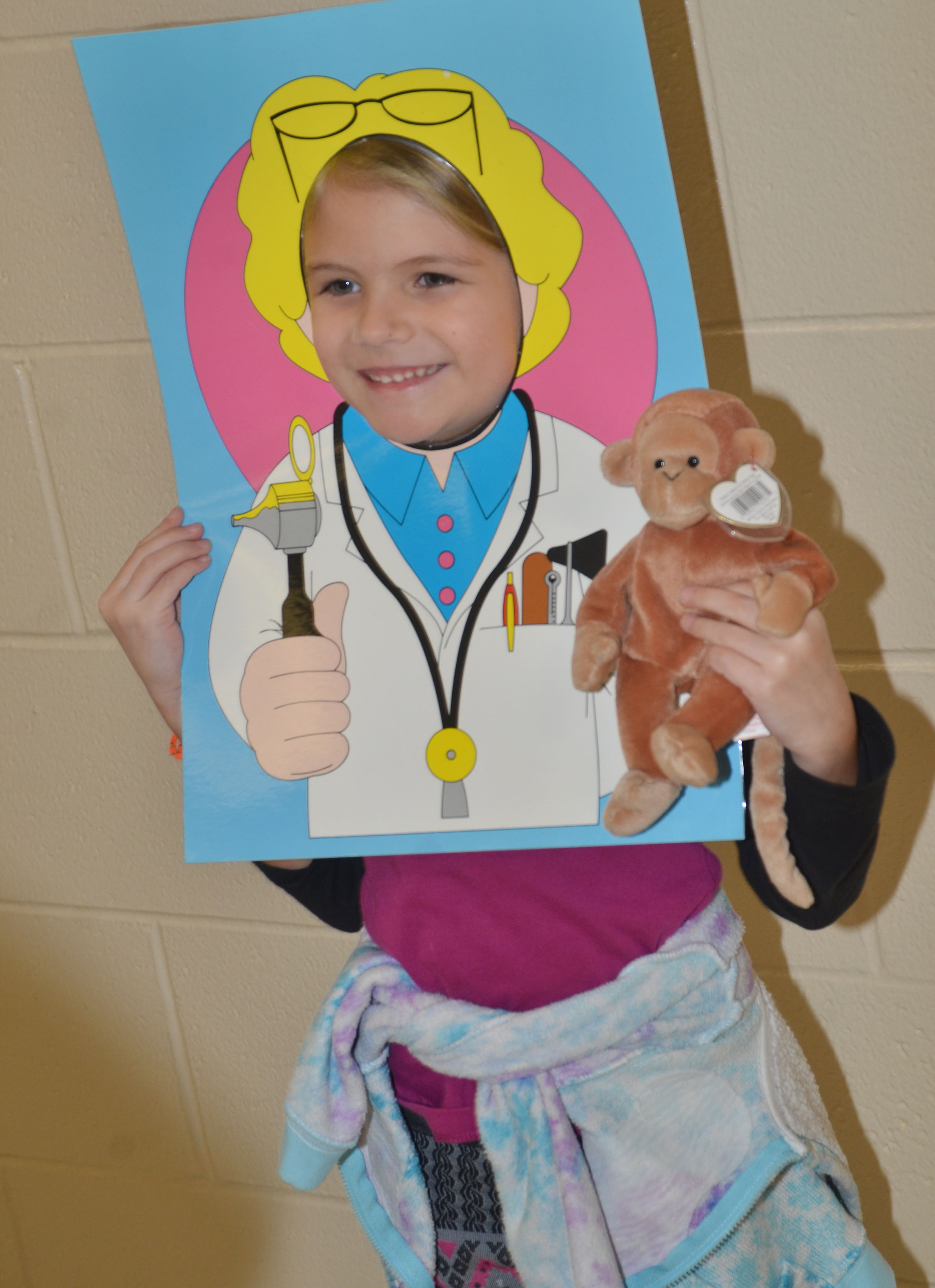 CES kindergartener Gracie Gebler says she wants to be a veterinarian.