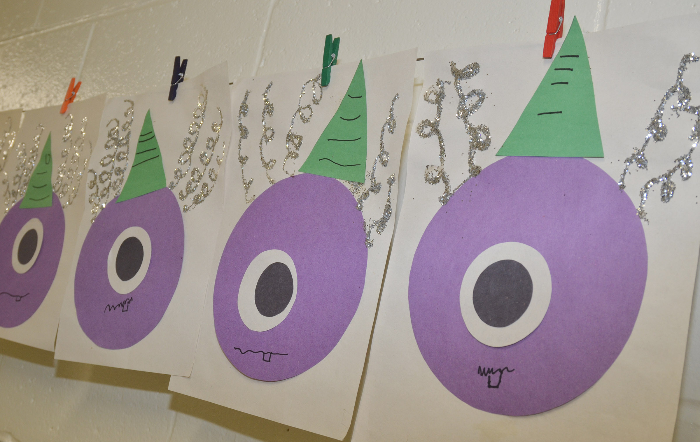 CES kindergarteners made this purple people eater.