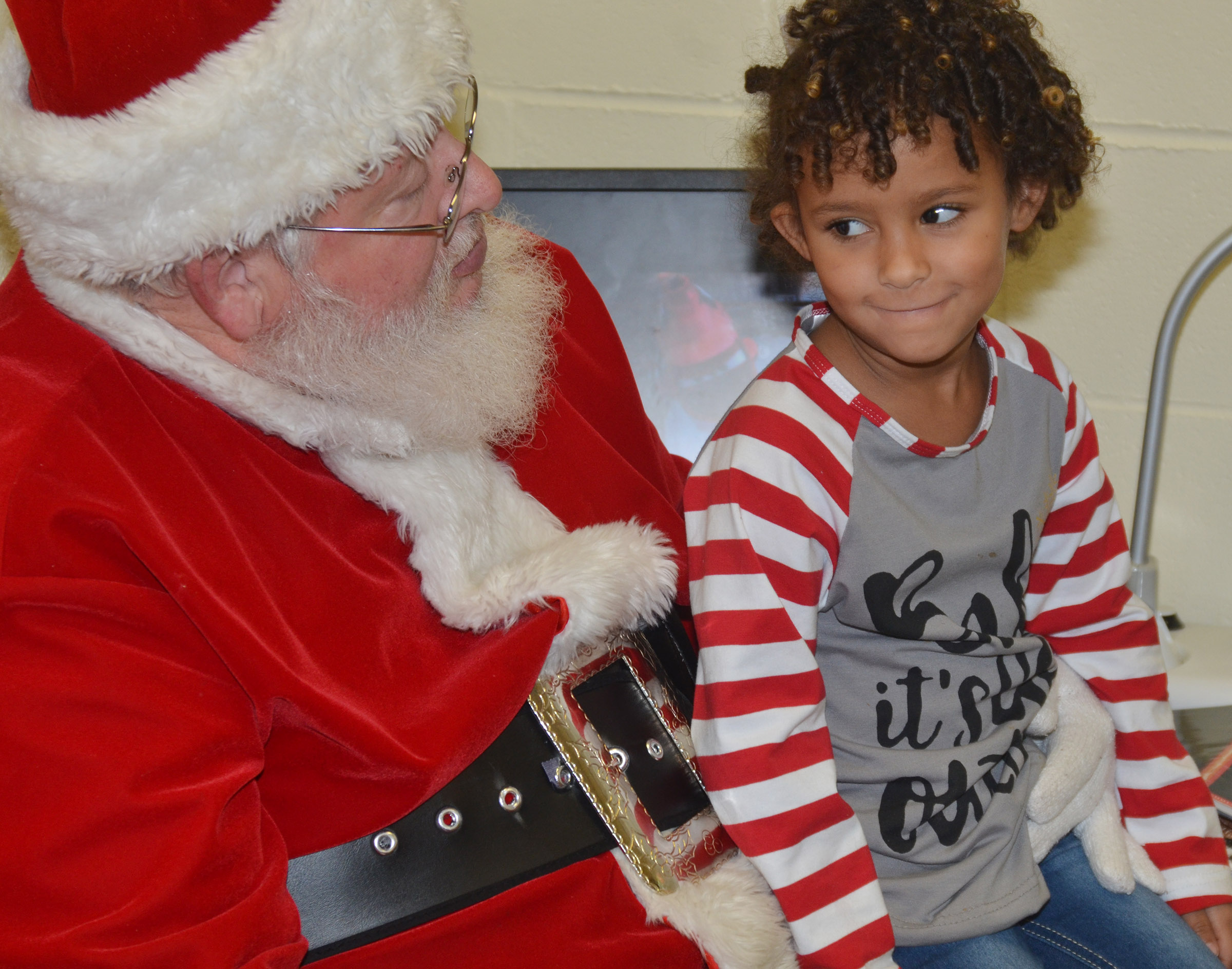 CES kindergartener Aleja Taylor thinks about what she wants for Christmas.